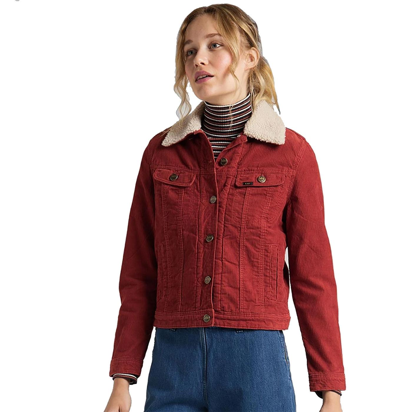 Rider LEE Womens Retro Sherpa Lined Cord Jacket RO