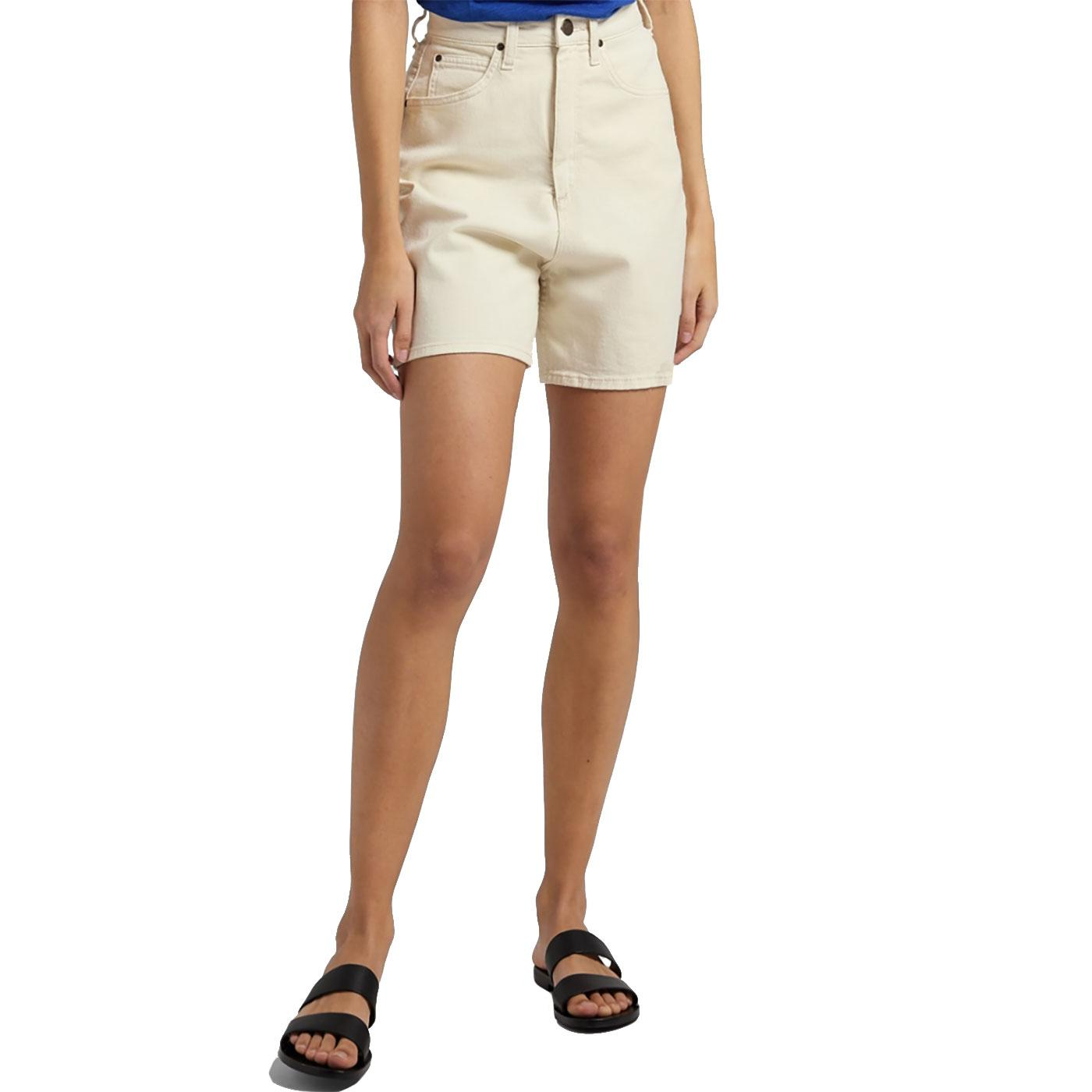 Stella LEE JEANS Womens High Wasit Shorts - Ecru