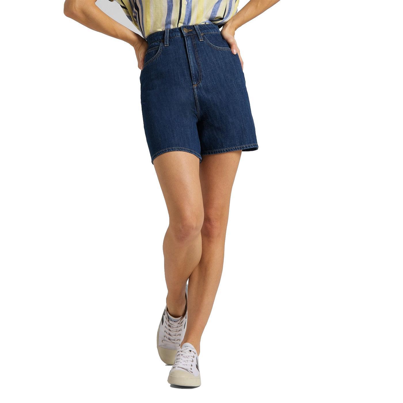 Stella LEE JEANS Womens High Wasit Shorts - Rinse