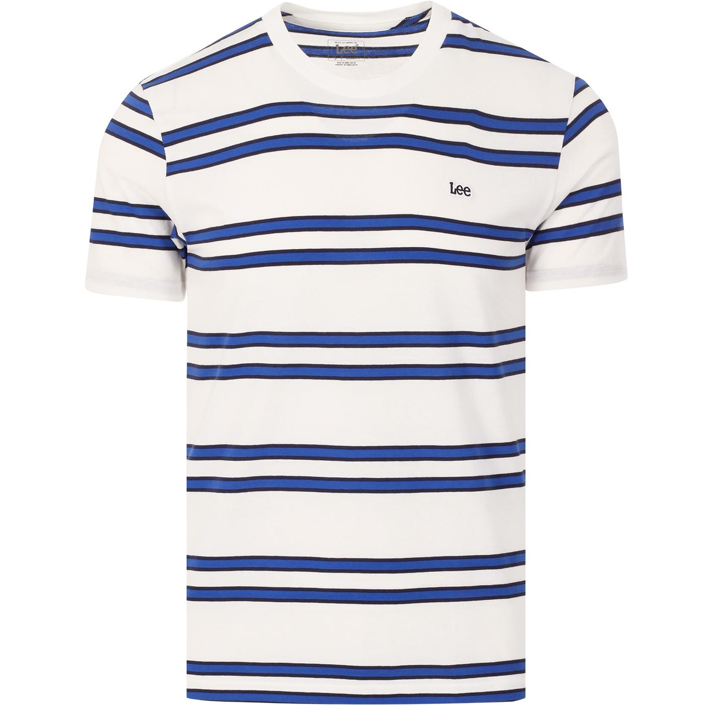 LEE Men's Retro 90s Indie Basic Stripe Tee (Ecru)
