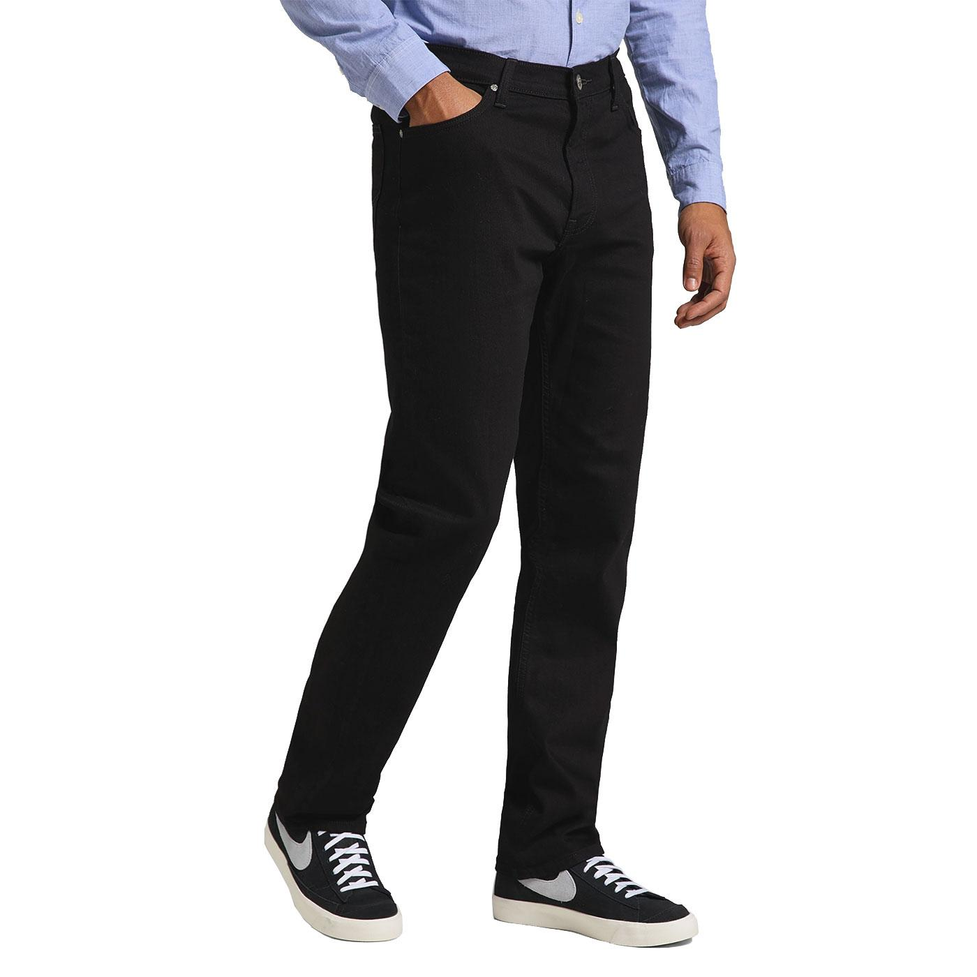 West LEE JEANS Relaxed Straight Jeans CLEAN BLACK