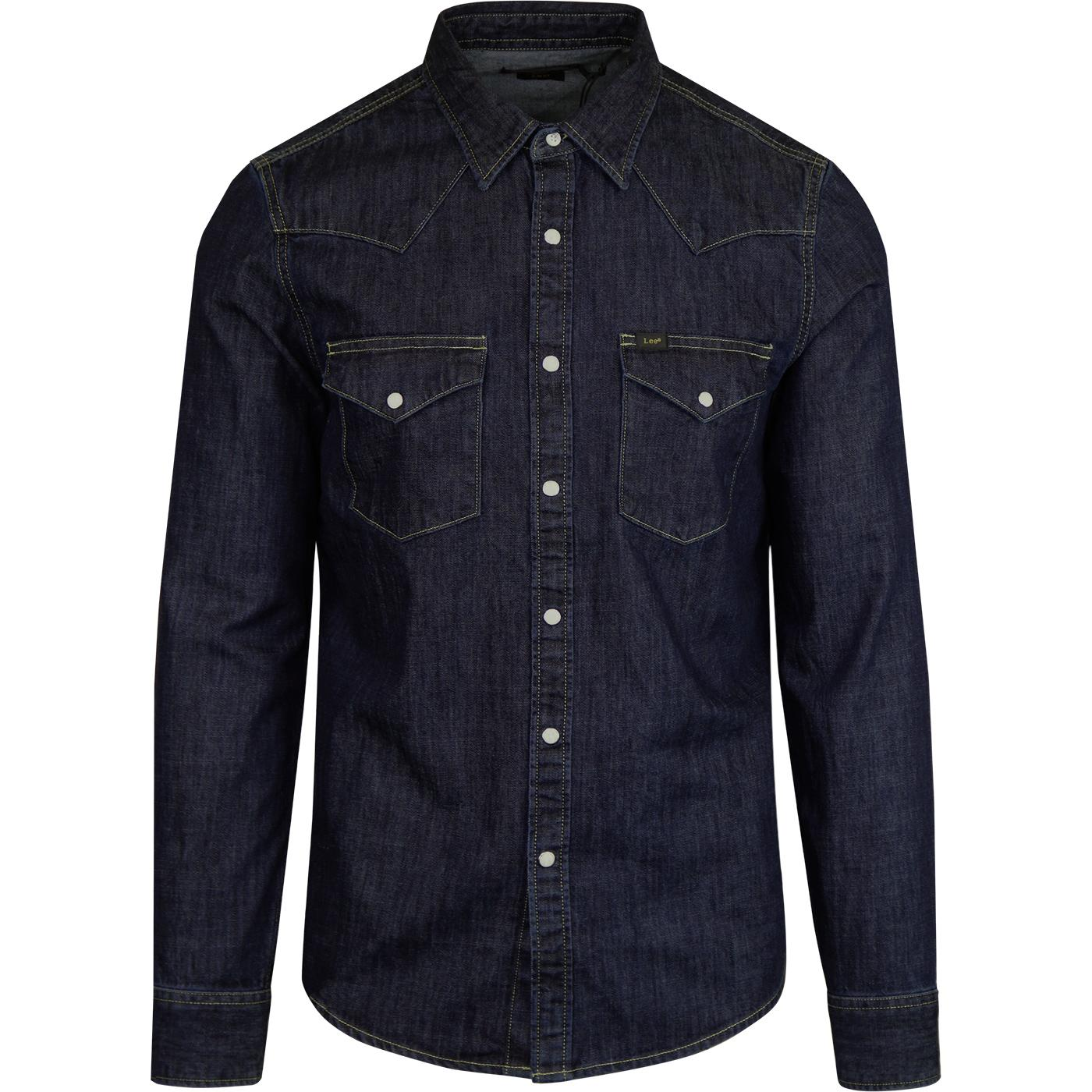LEE Retro 70s Slim Denim Western Shirt (Blueprint)