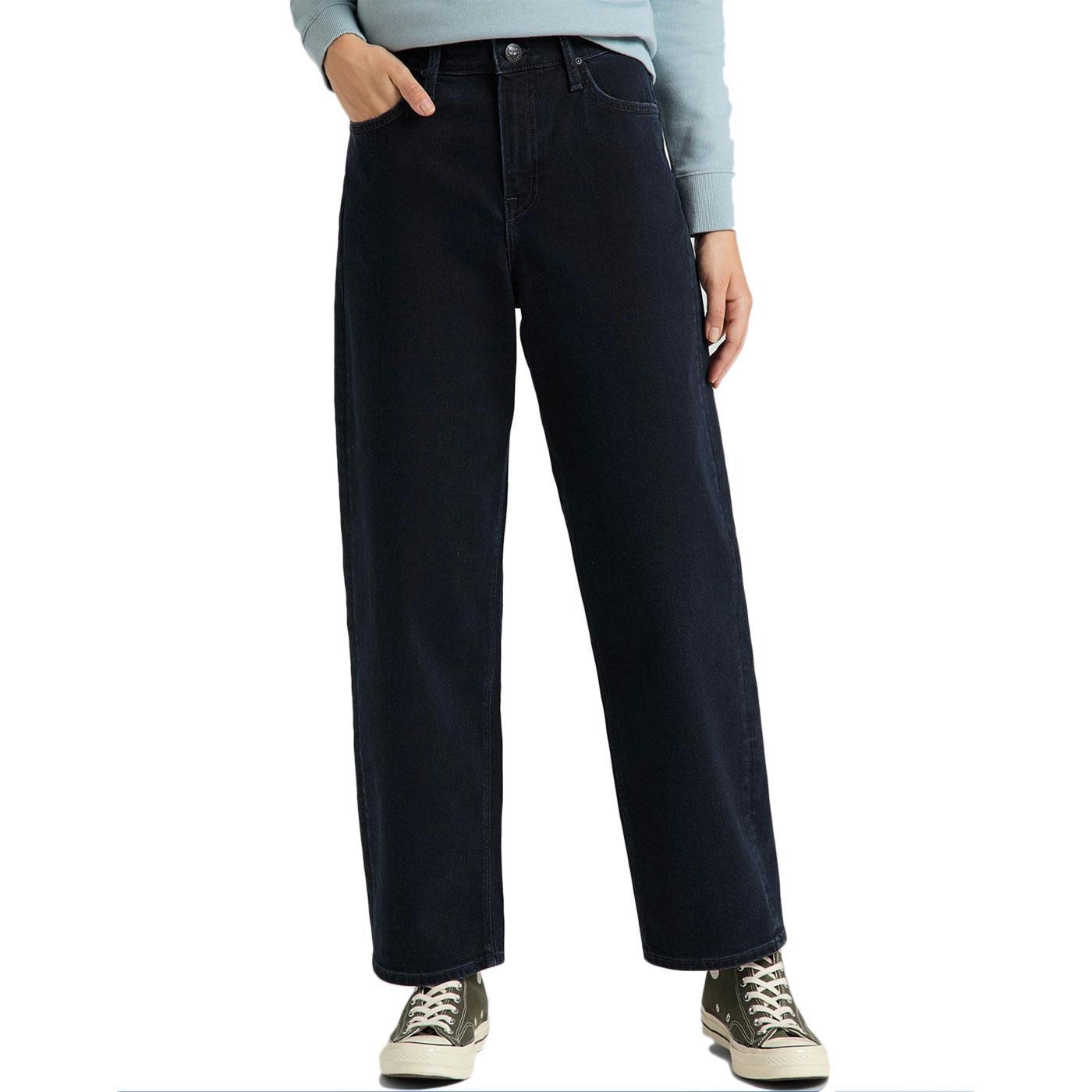 LEE Women's Wide Leg Clean Ballad Cropped Jeans