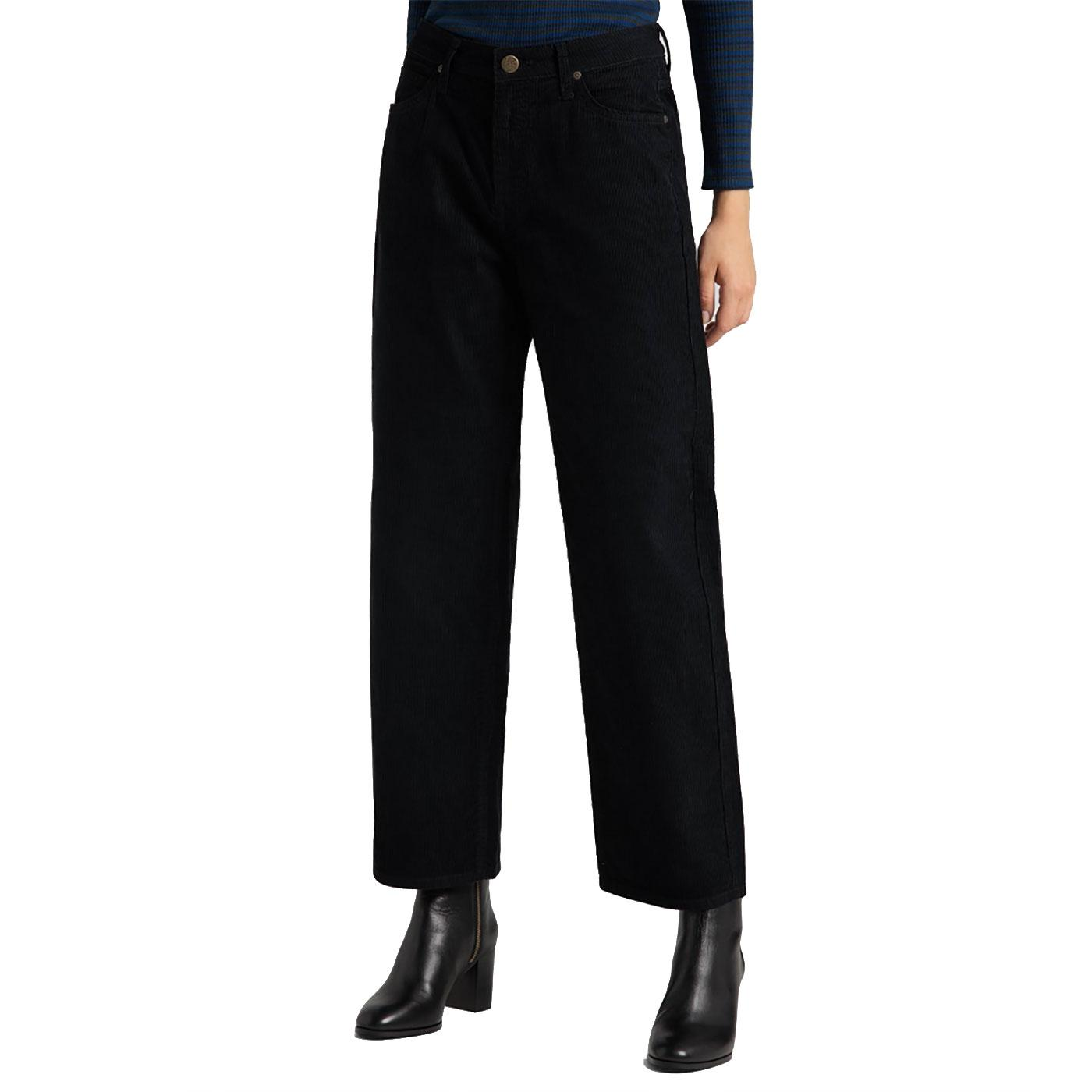 LEE Women's Retro Cropped Wide Leg Corduroy Jeans