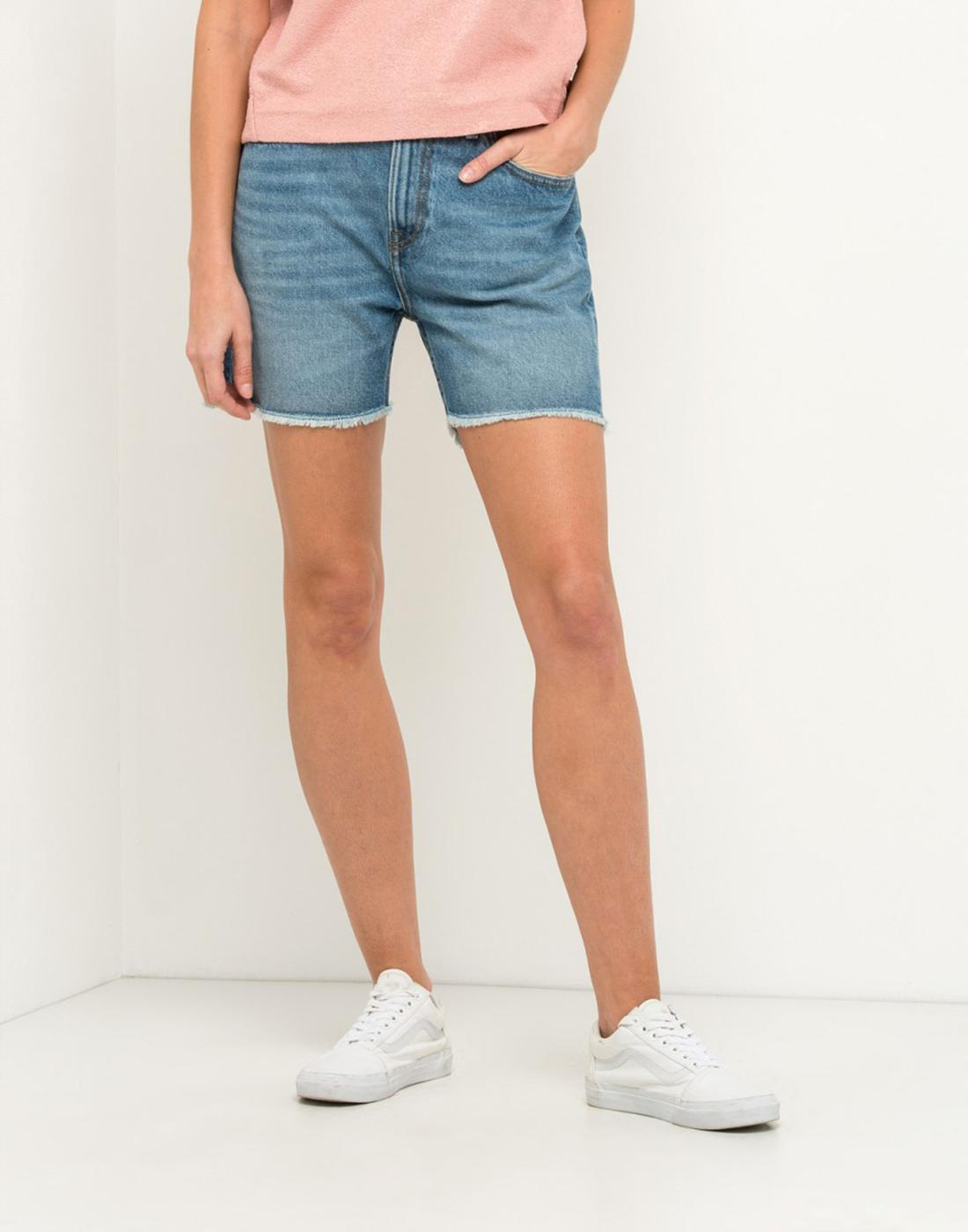 LEE JEANS Womens Retro 80s Denim Boyfriend Shorts