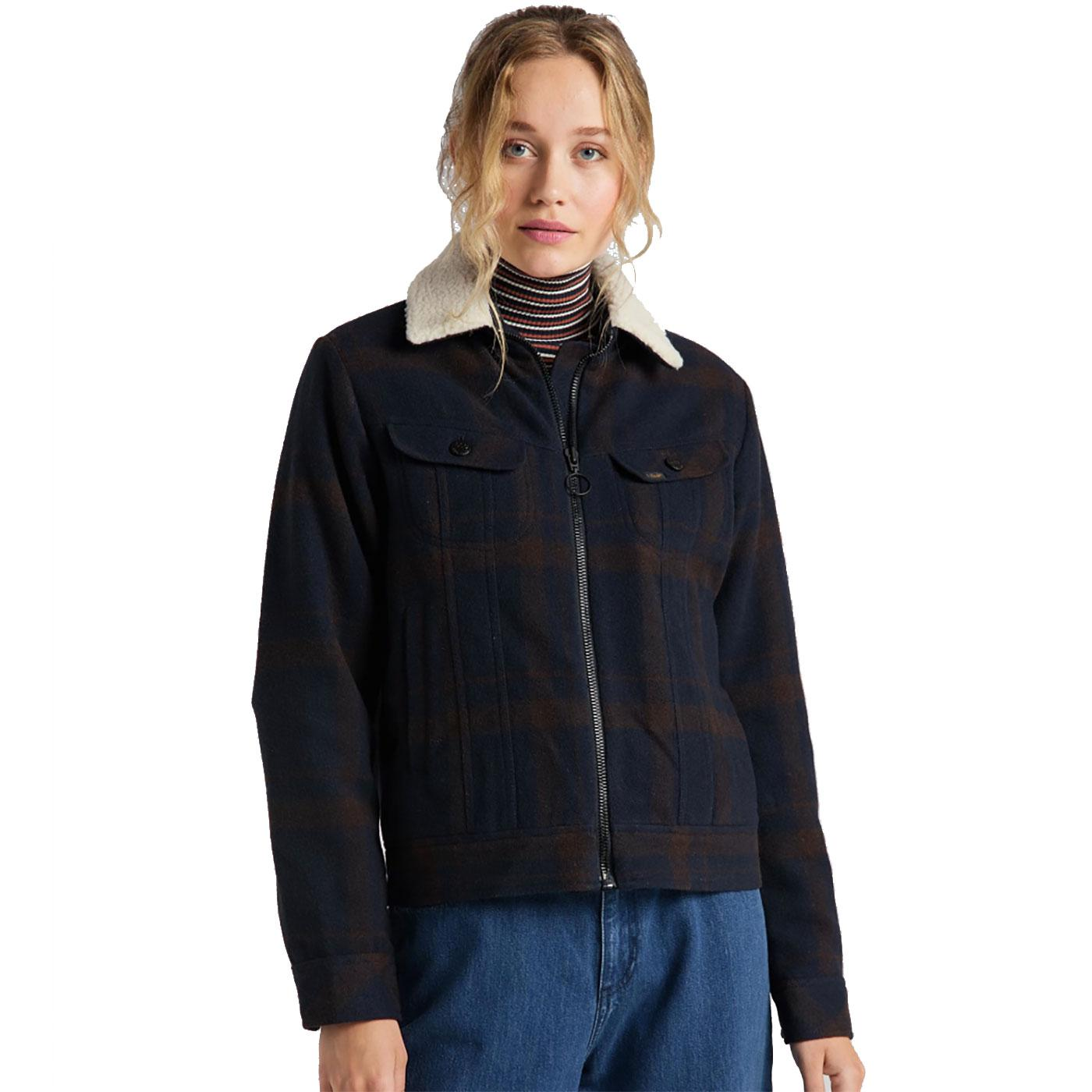 LEE JEANS Womens Retro Wool Check Sherpa Jacket WB