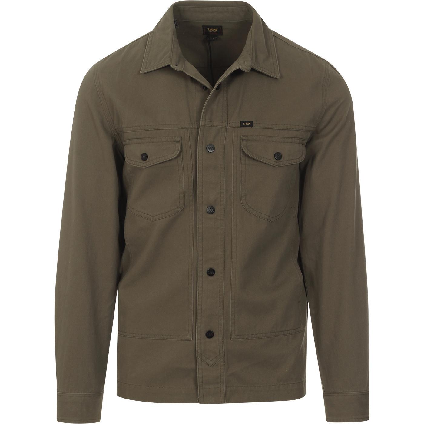 LEE Men's Retro Military Worker Over Shirt (OG)