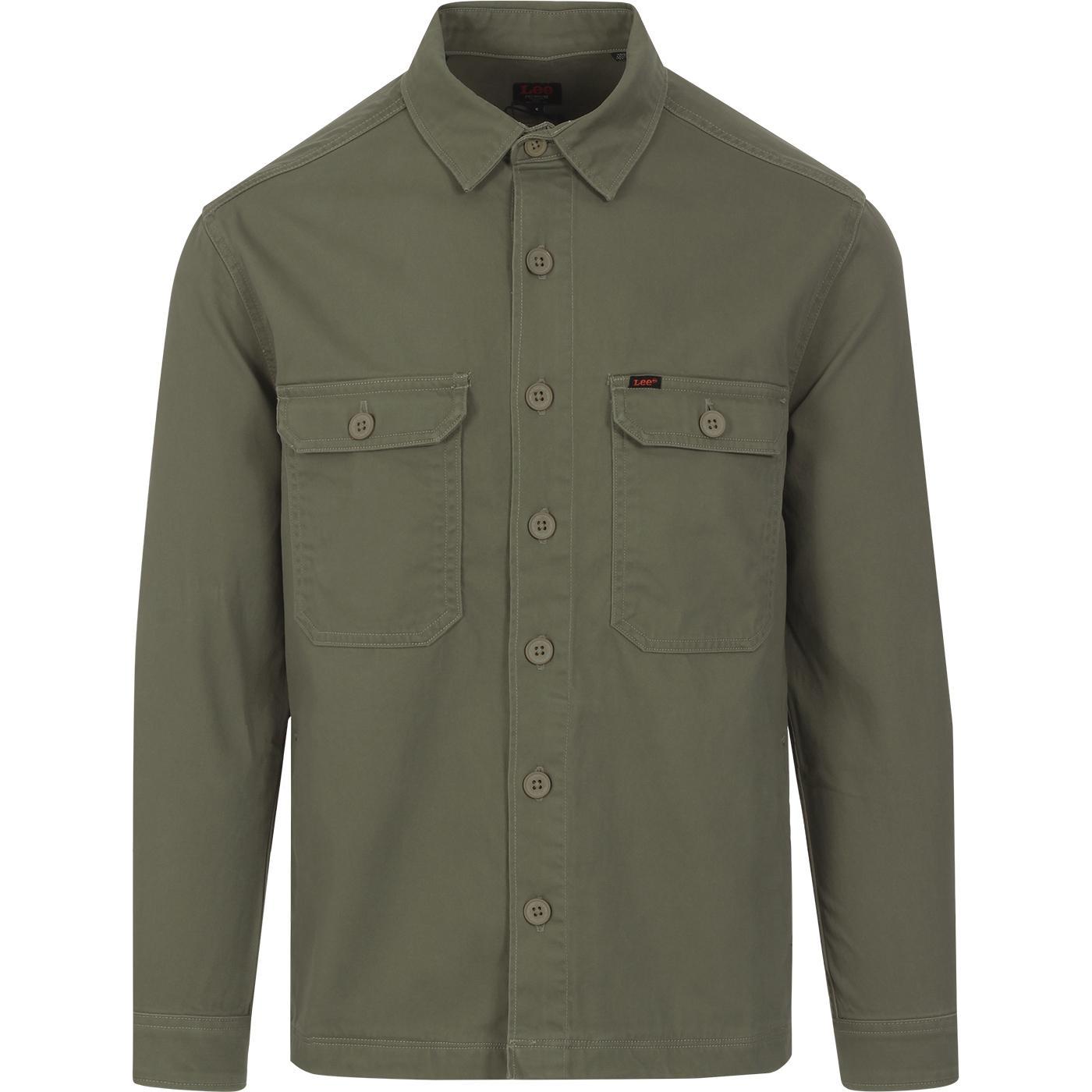 LEE JEANS Retro Mod Workwear Overshirt (Olive)