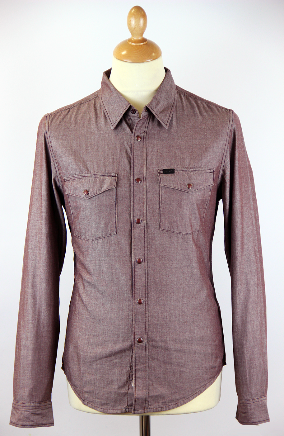 LEE Slim Fit Retro Mod Western Chambray Shirt (GR)