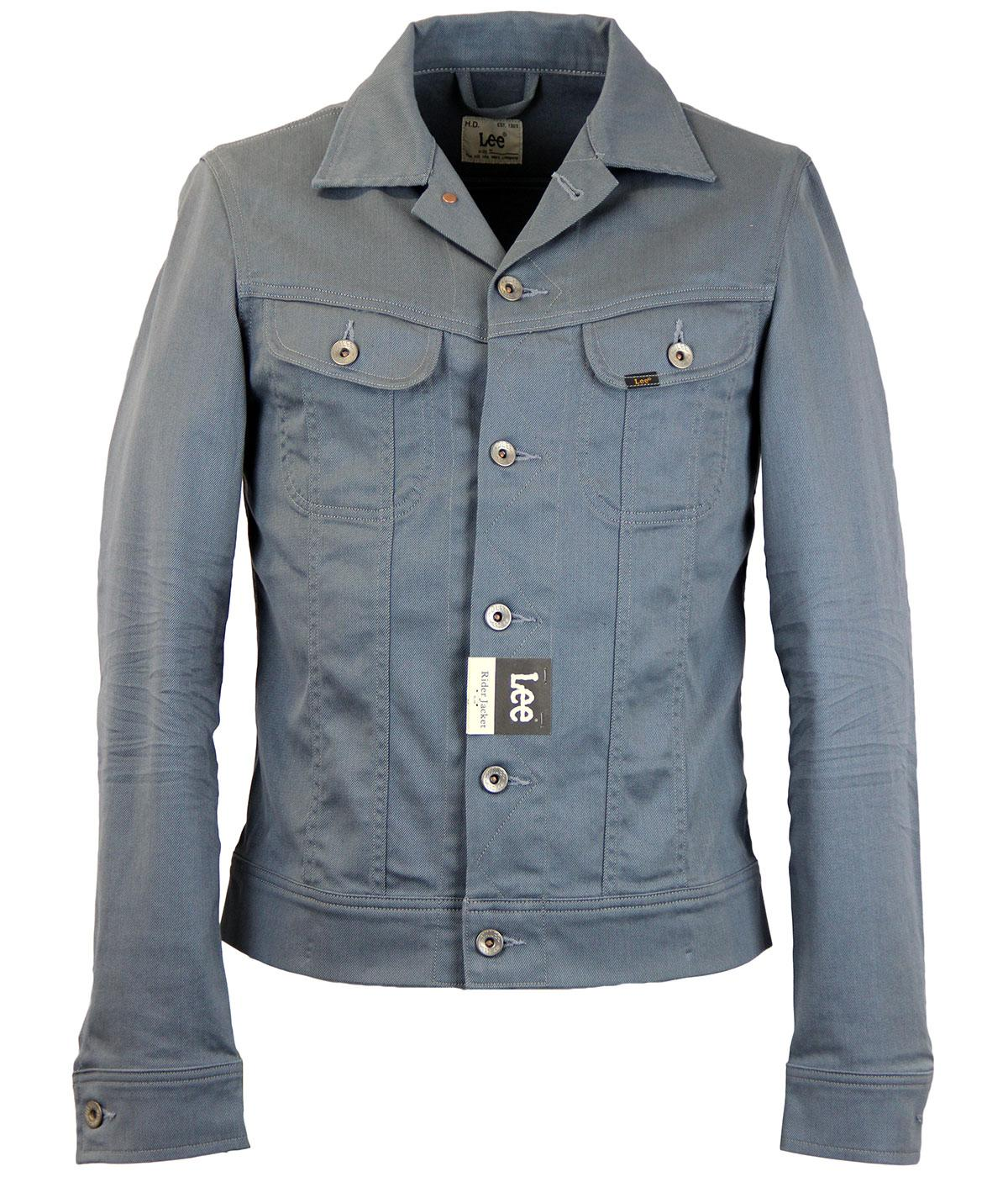 LEE Rider Retro Mod Slim Fit Denim Jacket GREY