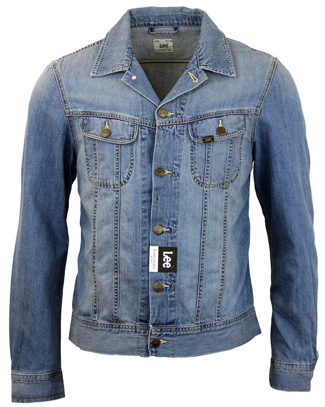 LEE Rider Retro Mod Slim Stream Bed Denim Jacket