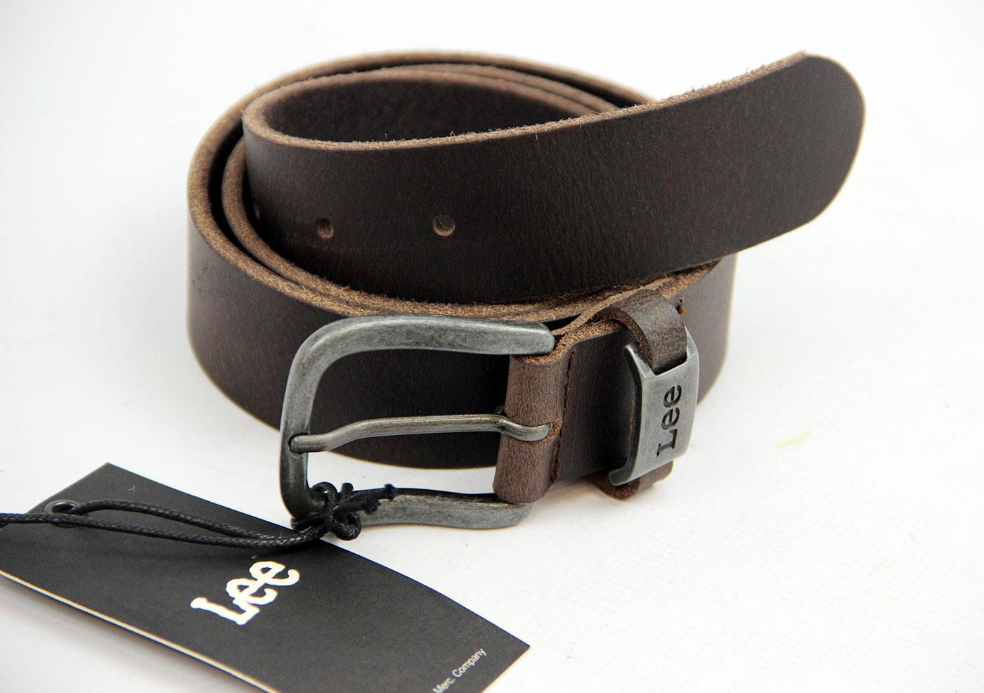 Lee Jeans Retro Indie Mod Full Grain Leather Vintage Belt