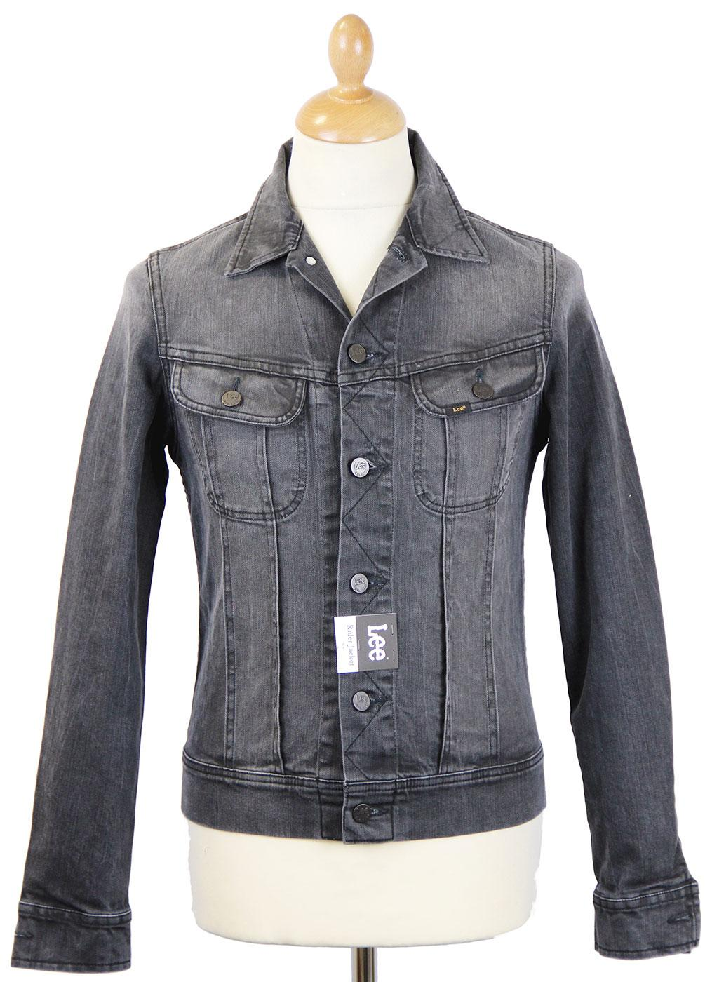 LEE Rider Retro Bruised Black Mod Denim Jacket BB