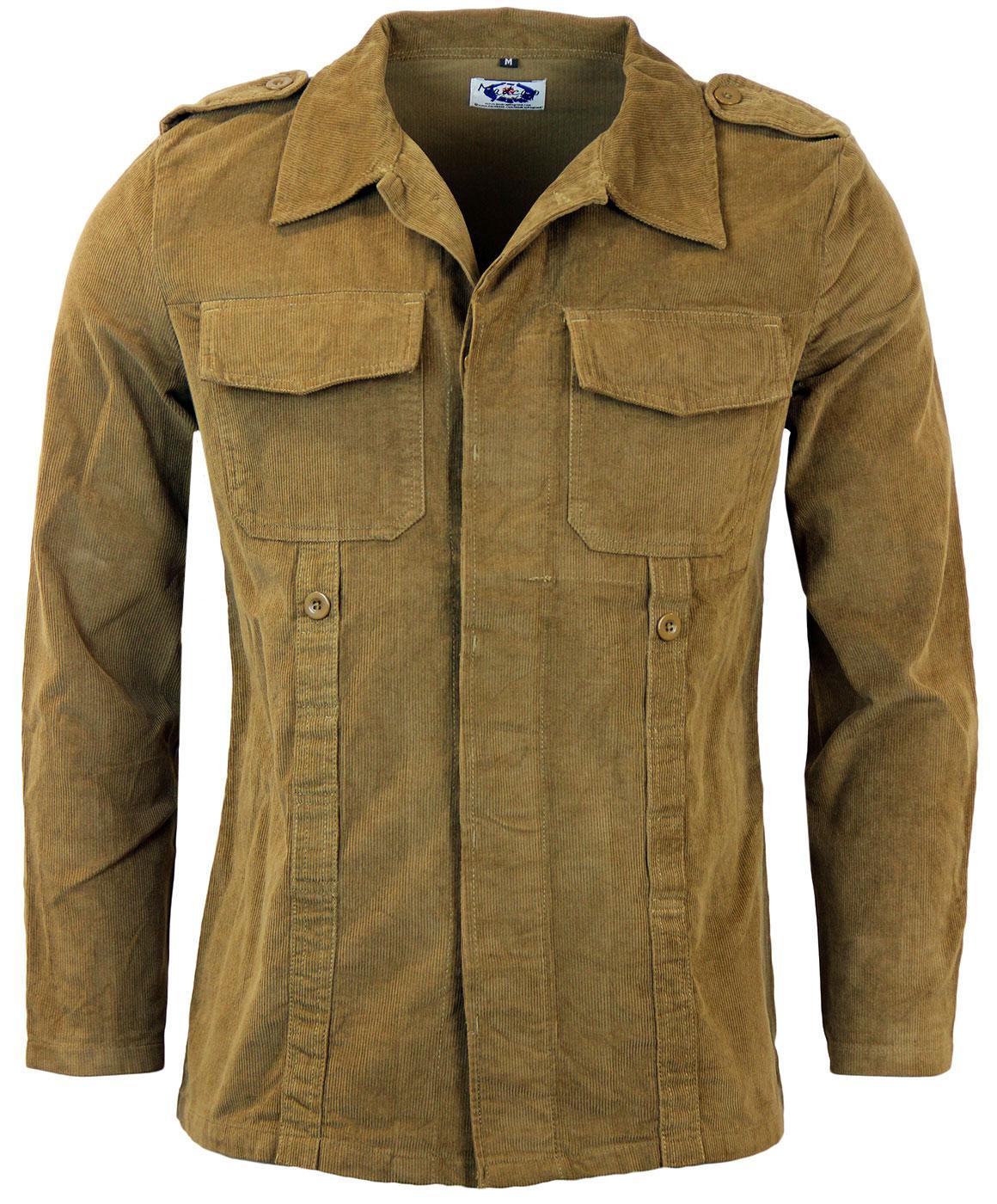 Original 60's green cord jacket s3ox9
