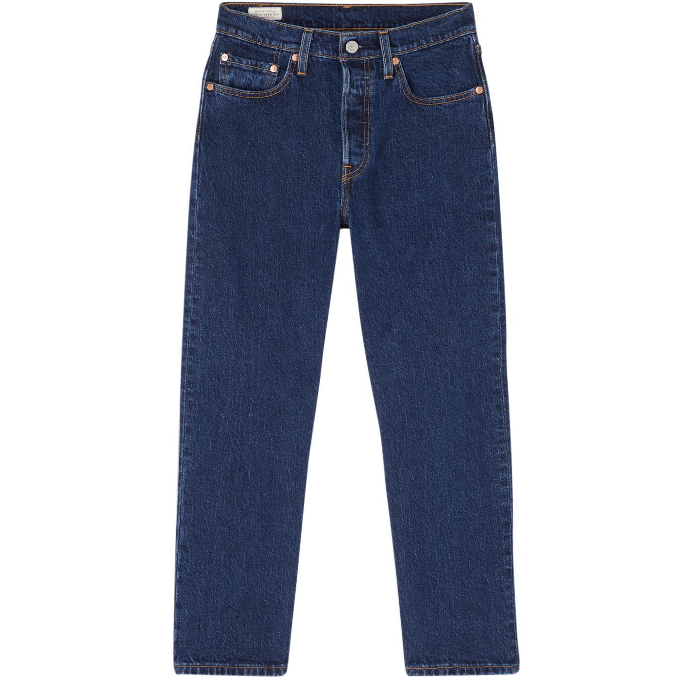 LEVI'S 501 Cropped Retro Jeans (Salsa Stonewash)