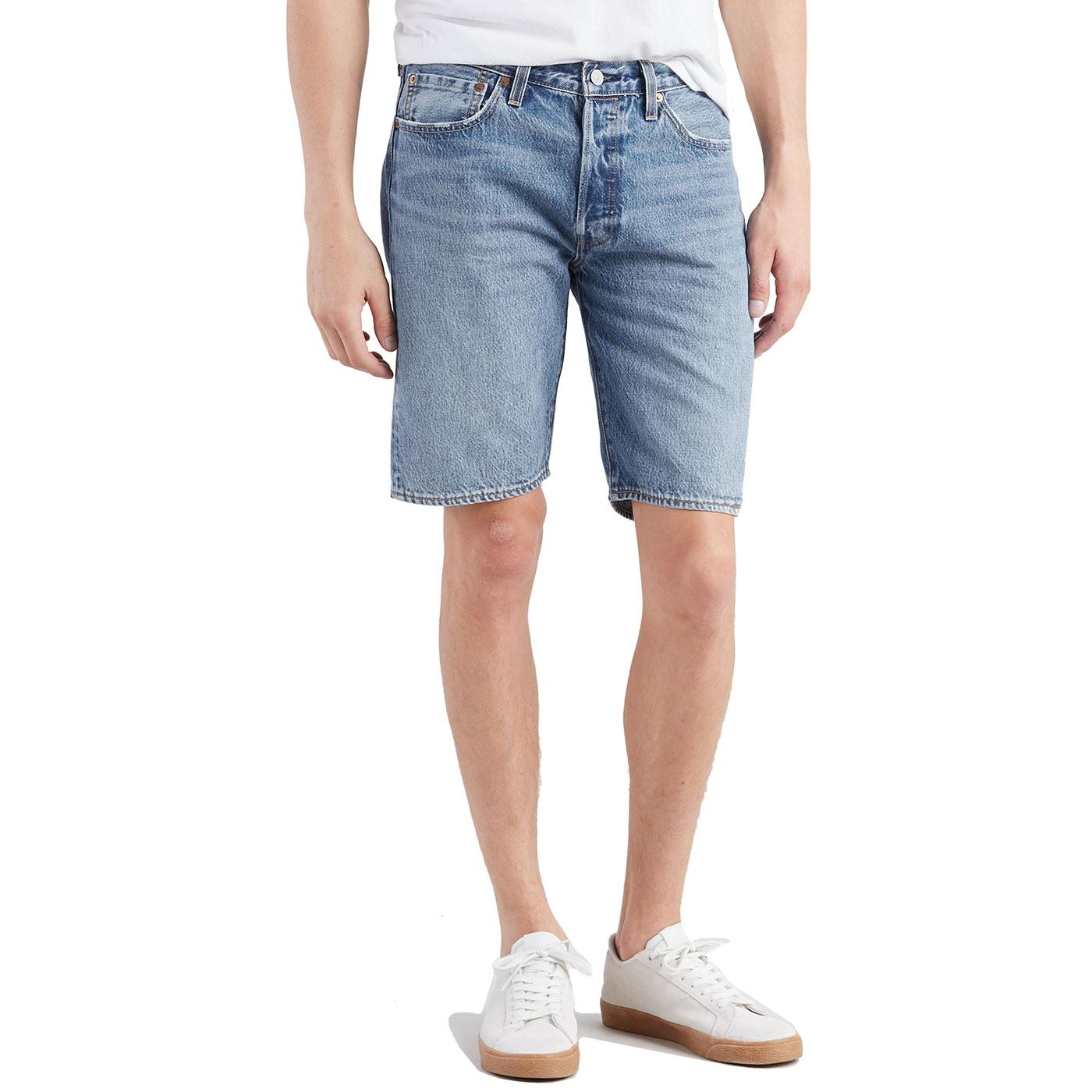 LEVI'S 501 Retro Denim Hemmed Shorts (Marshmallow)
