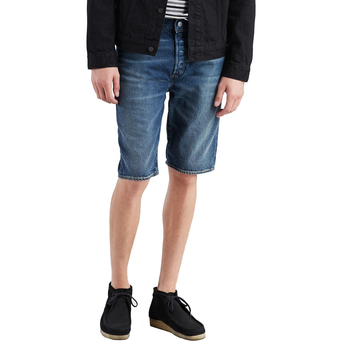 LEVI'S 501 Retro Denim Hemmed Shorts (Sour Patch)
