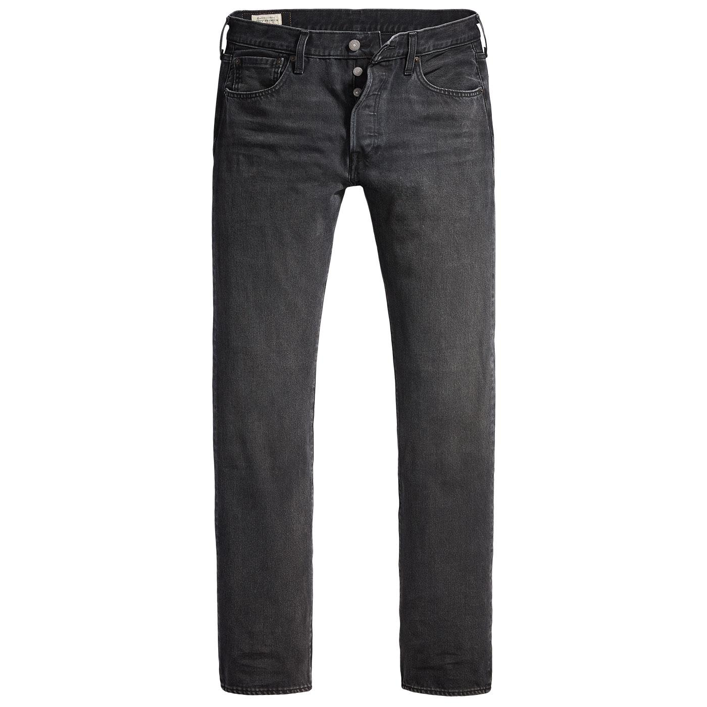 LEVI'S 501 Retro Straight Leg Jeans (Solice Black)