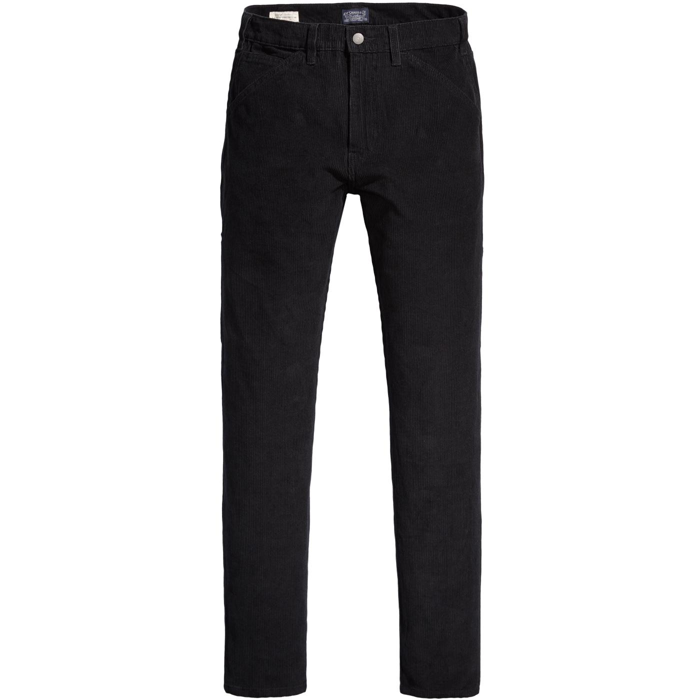 LEVI'S 502 Carpenter Slim Taper Cord Pants (Black)