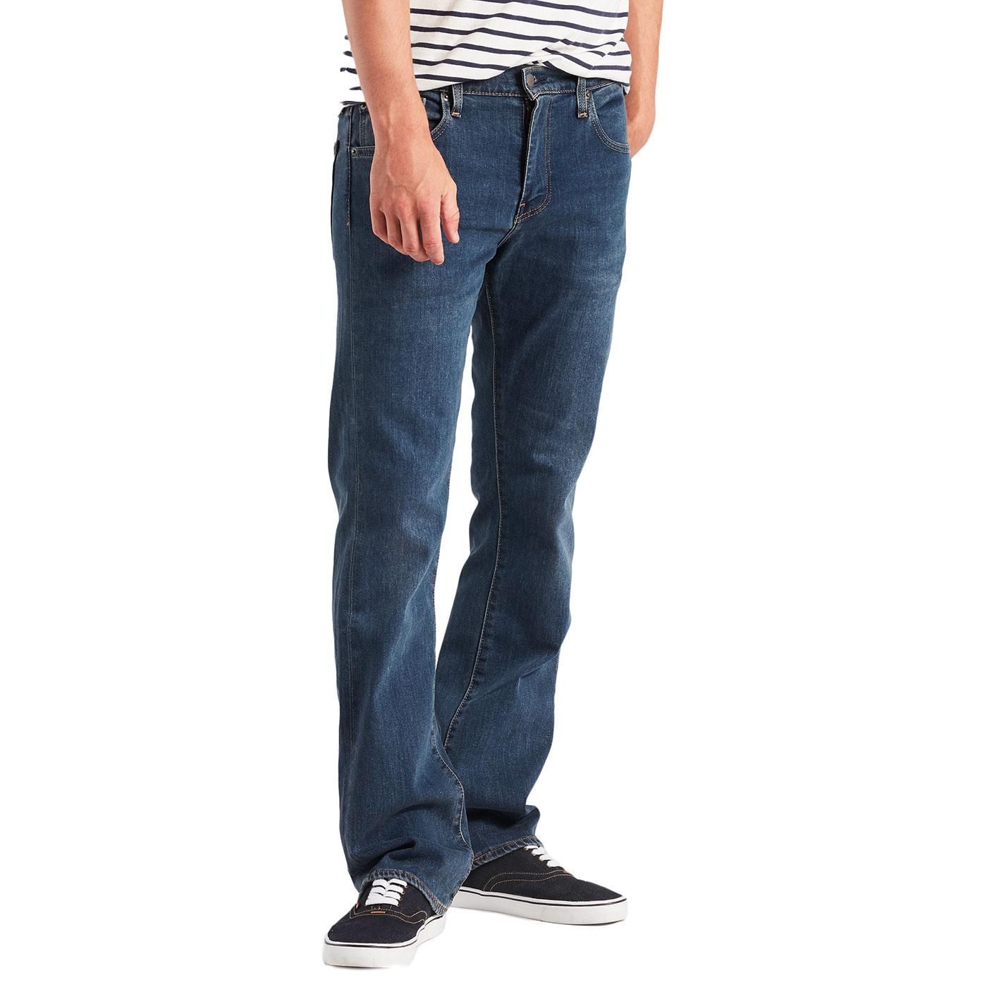 LEVI'S 527 Retro Slim Boot Cut Jeans (Mid Blue)