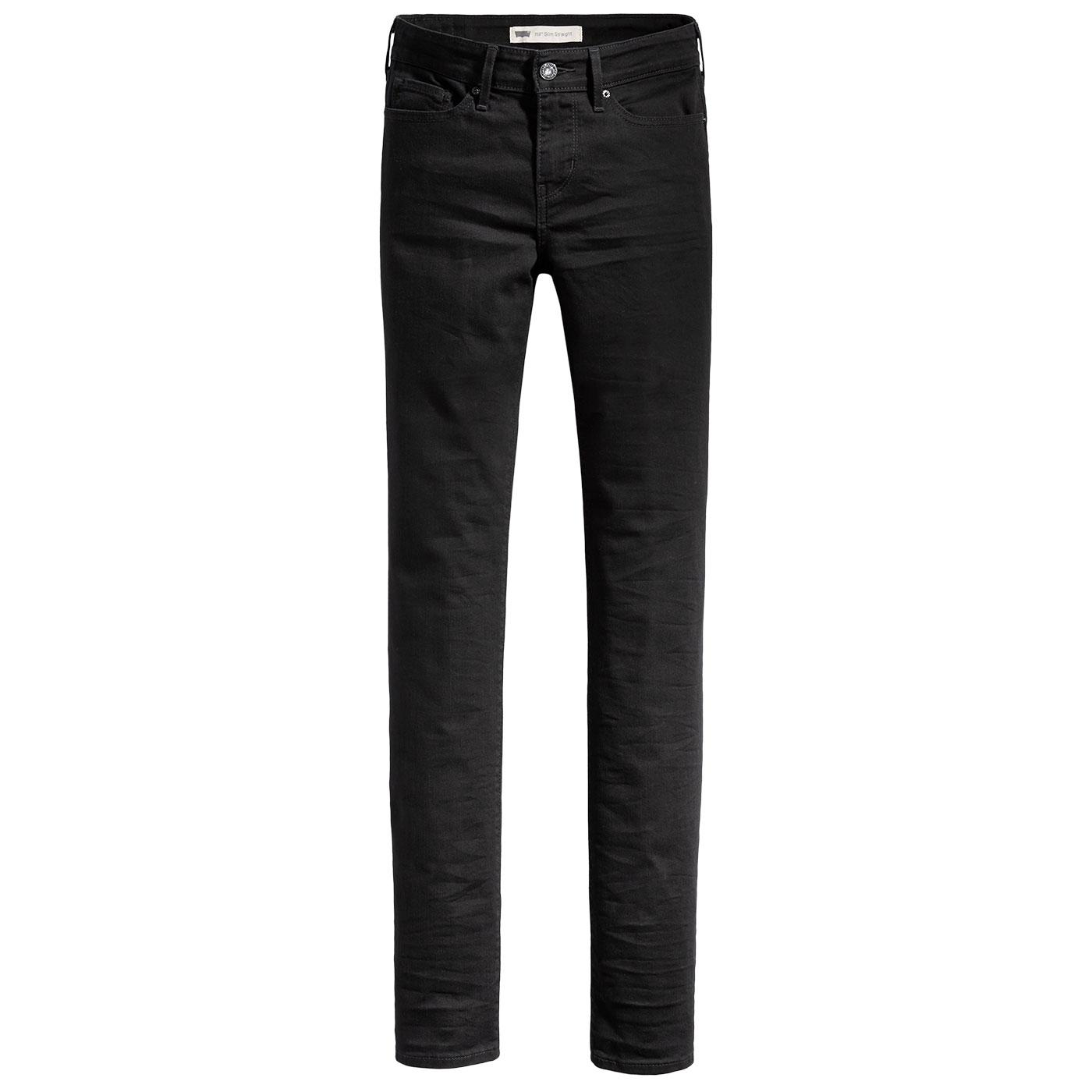 LEVI'S Women's 712 Slim Leg Jeans - Black Sheep