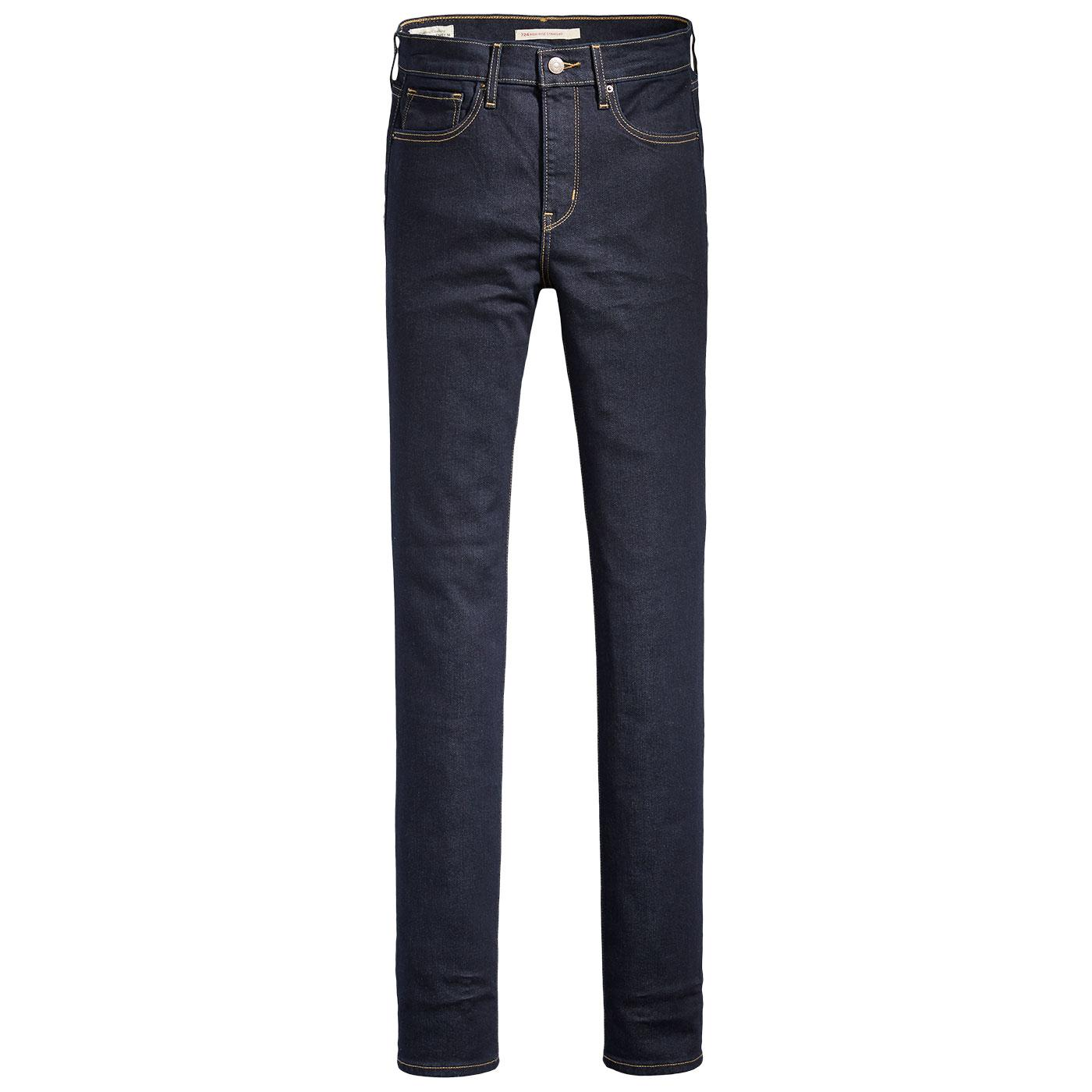 LEVI'S Women's 724 High Rise Straight Jeans - Blue