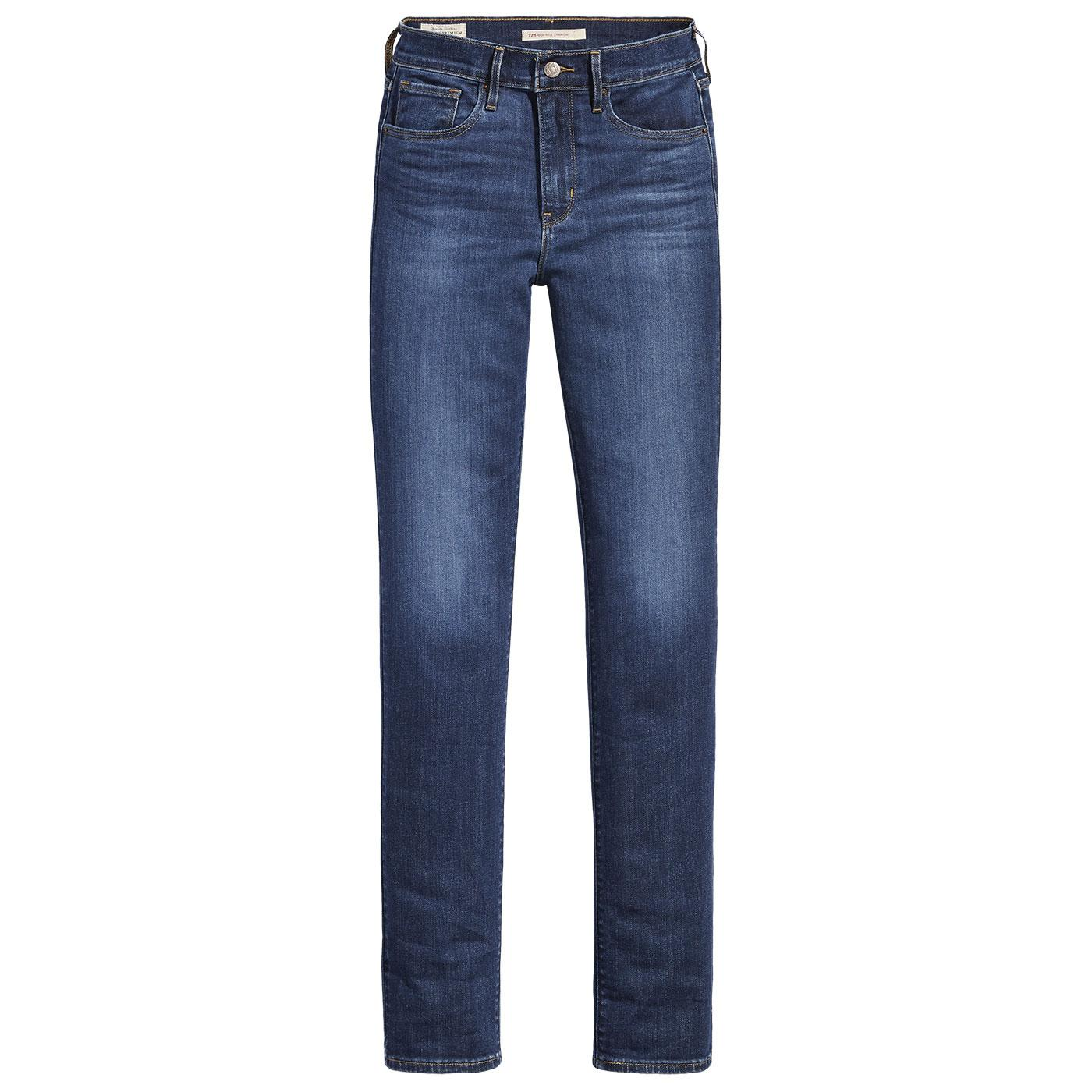 LEVI'S 724 High Rise Straight Jeans - Carbon Dust
