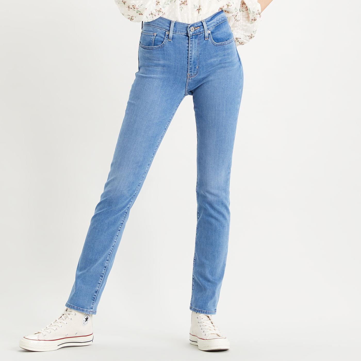 LEVI'S 724 High Rise Straight Jeans - Rio Chill
