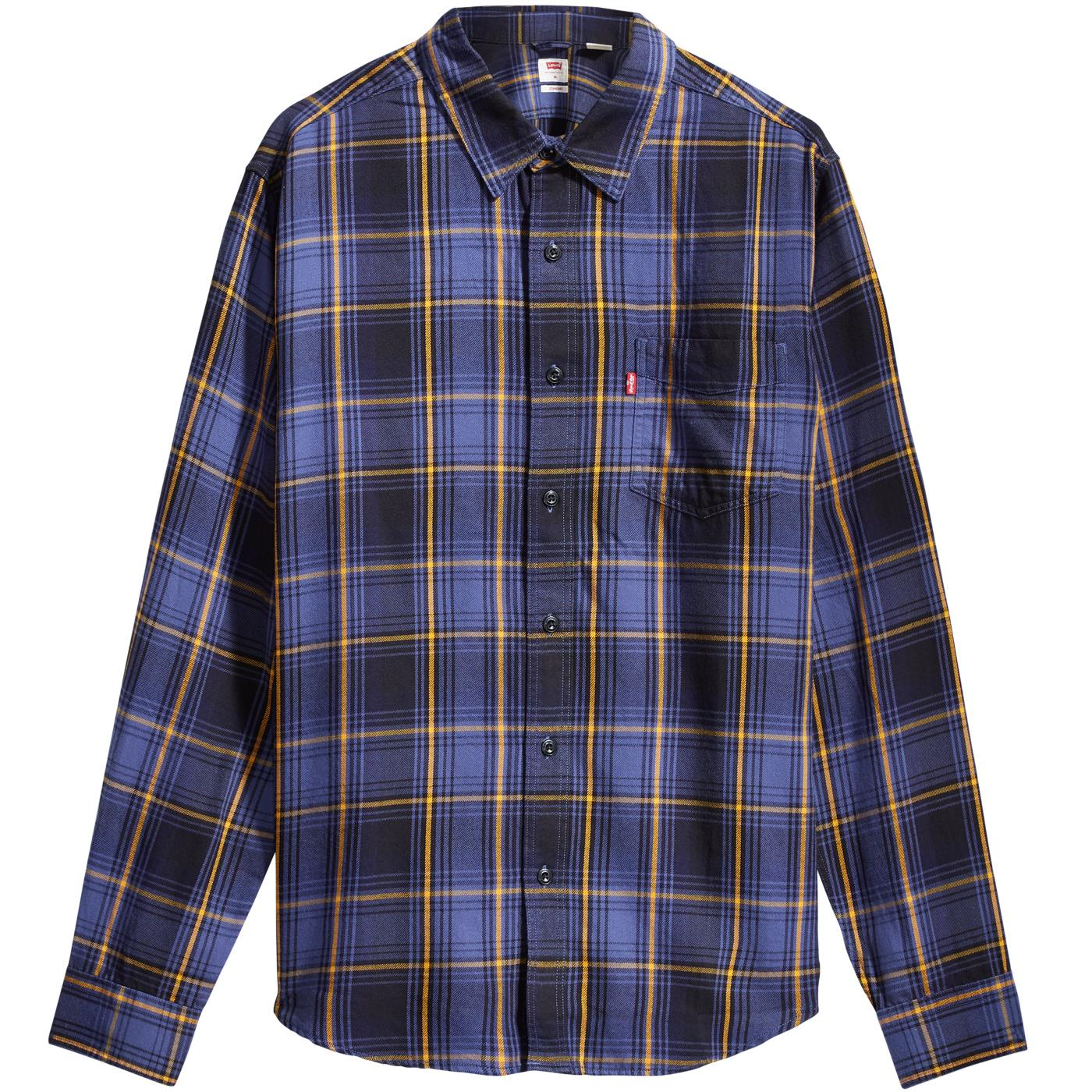 LEVI'S Sunset 1 Pocket Retro Mod Check Shirt (AGY)