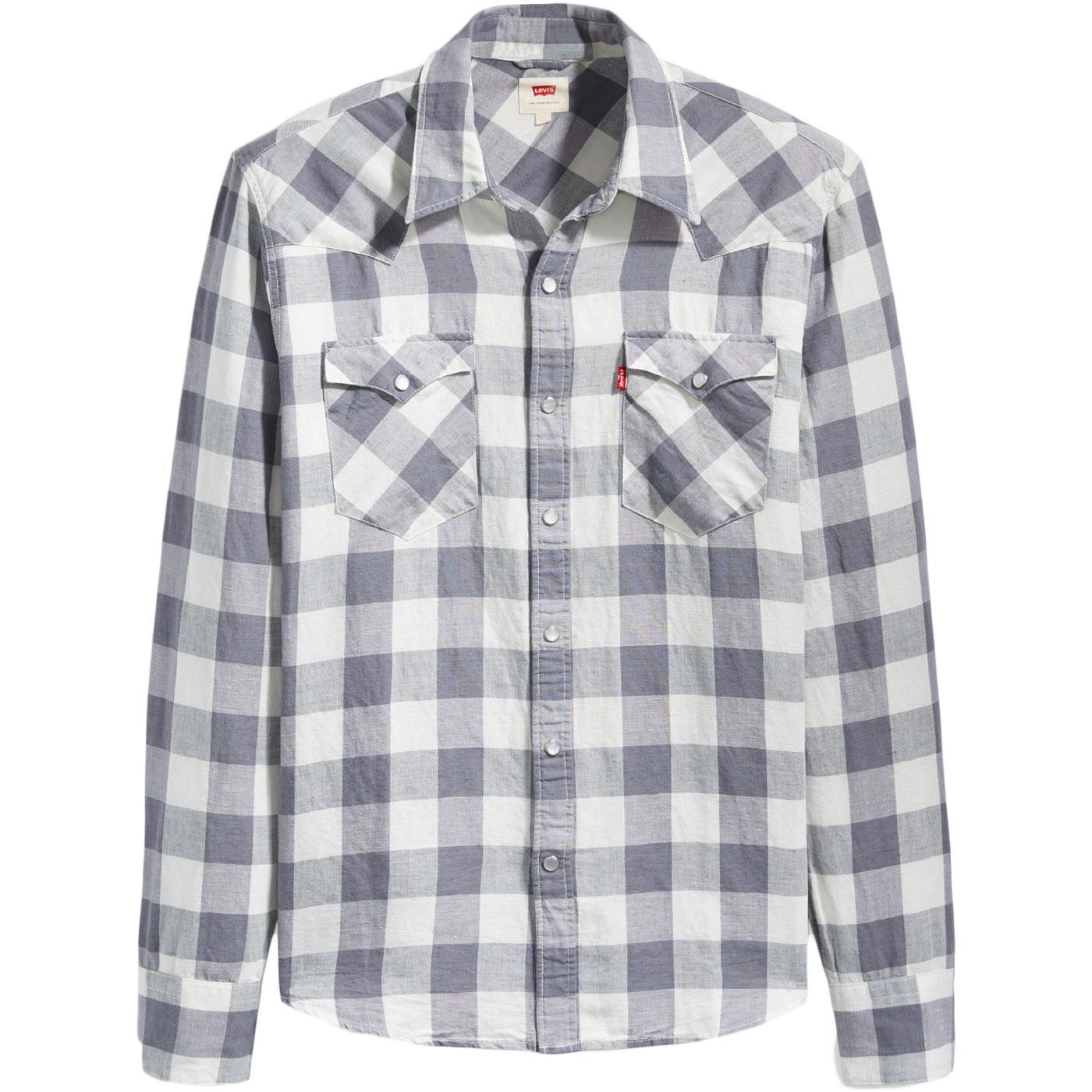 Barstow LEVI'S Retro Linen Check Western Shirt QG