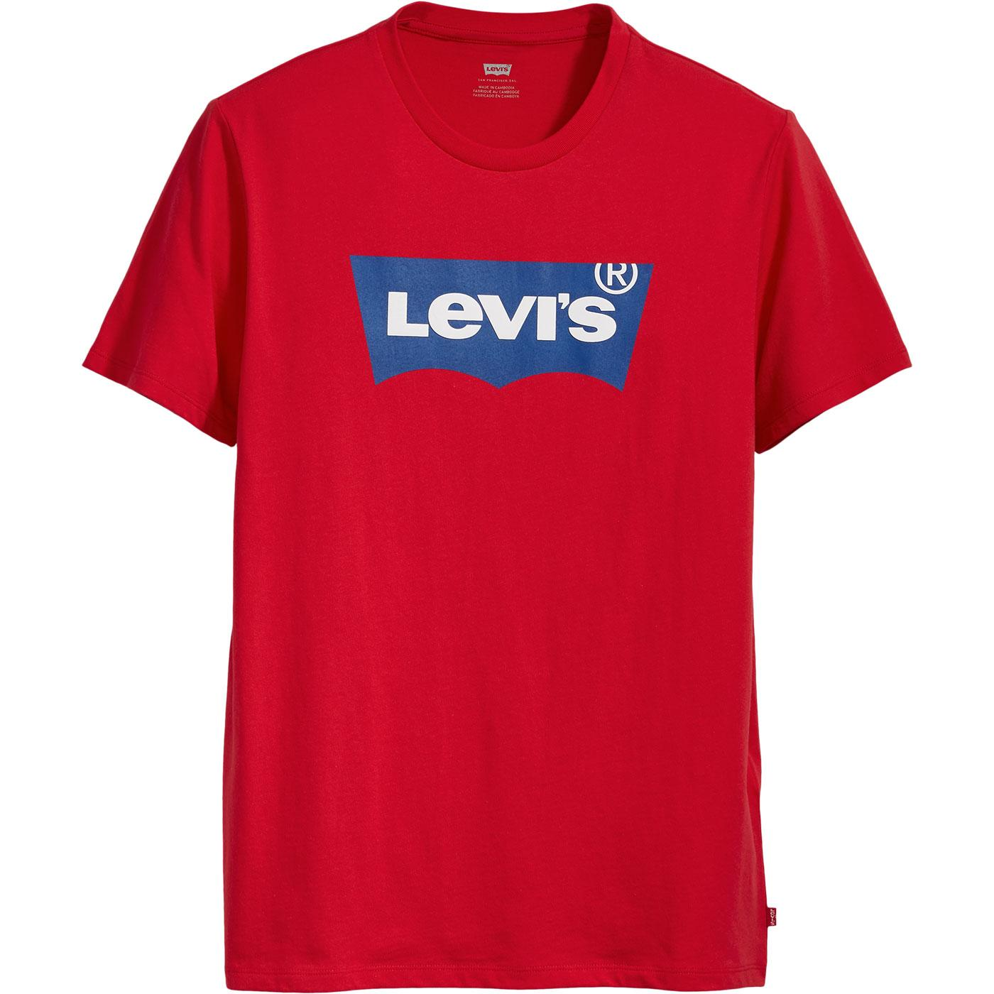 LEVI'S Mens Retro Housemark Batwing Logo Tee (Red)