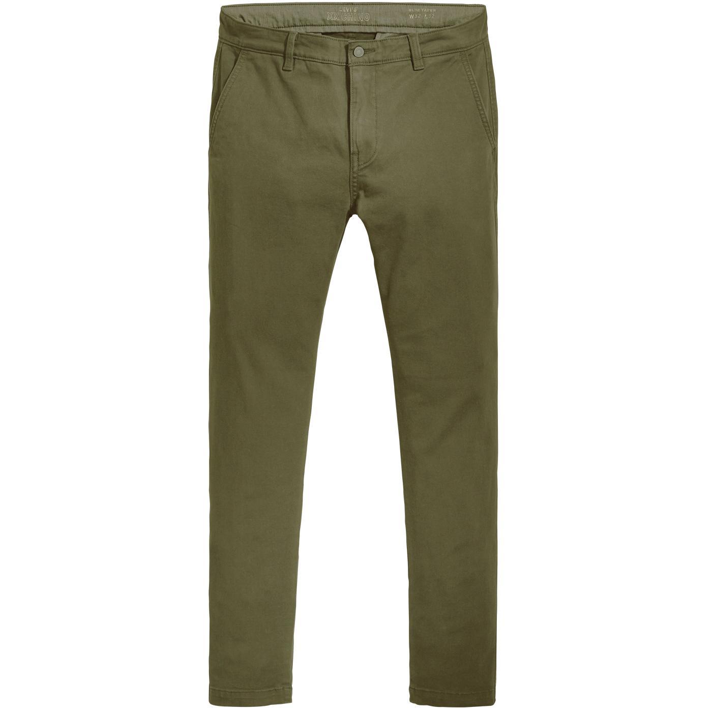 LEVI'S Slim Taper XX Chino II Trousers (Olive)