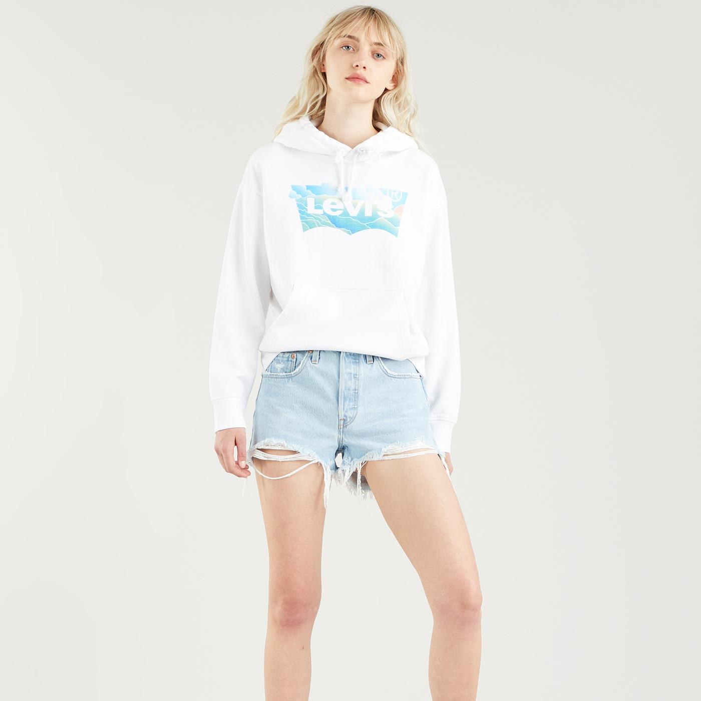 LEVI'S Womens Retro Relaxed Batwing Clouds Hoodie
