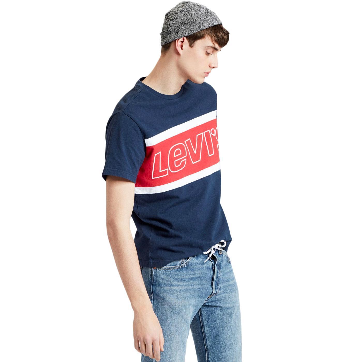 LEVI'S Men's Retro 90s Colour Block T-shirt (Navy)