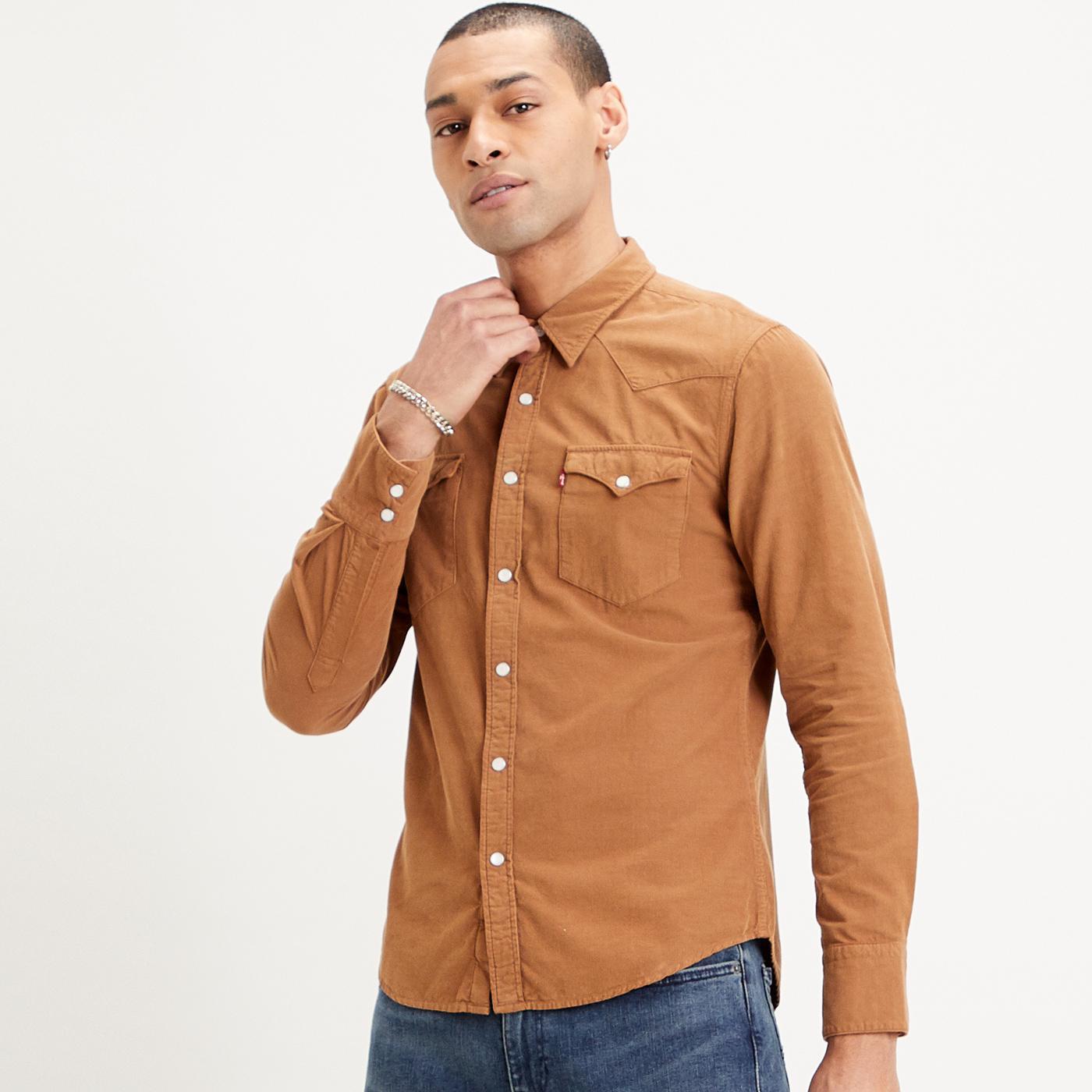 Barstow LEVI'S Retro Western Slim Cord Shirt (C)
