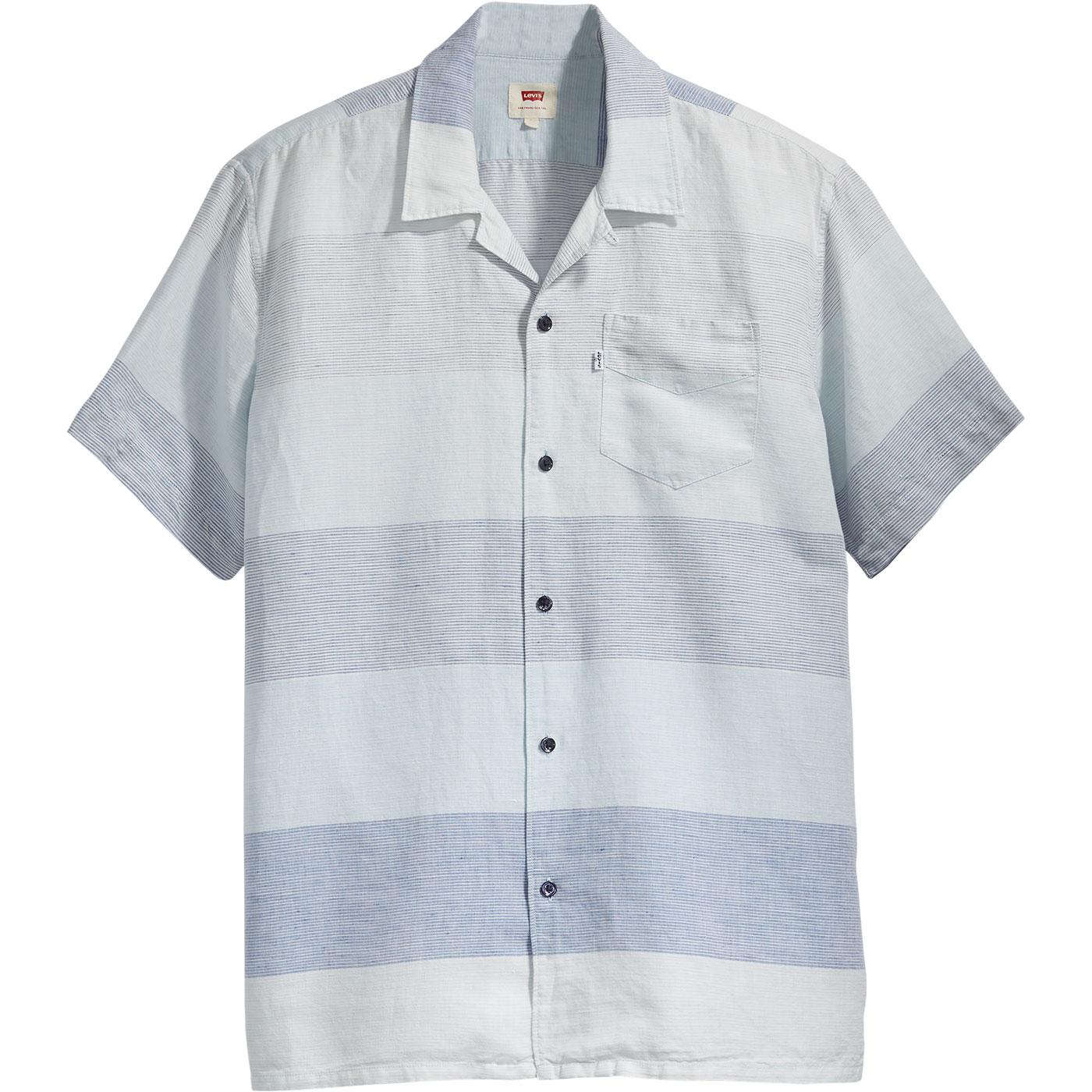 Cubano LEVI'S Retro 70s Cuban Collar Stripe Shirt