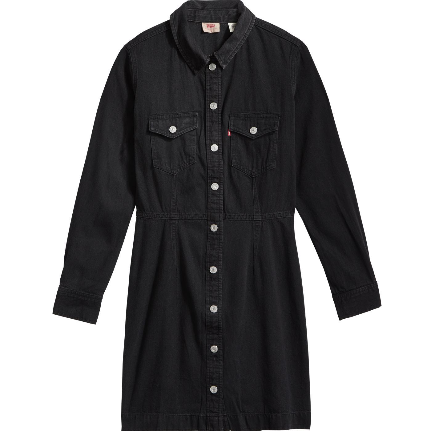Ellie LEVI'S WOMENS Retro 70s Denim Dress in Black