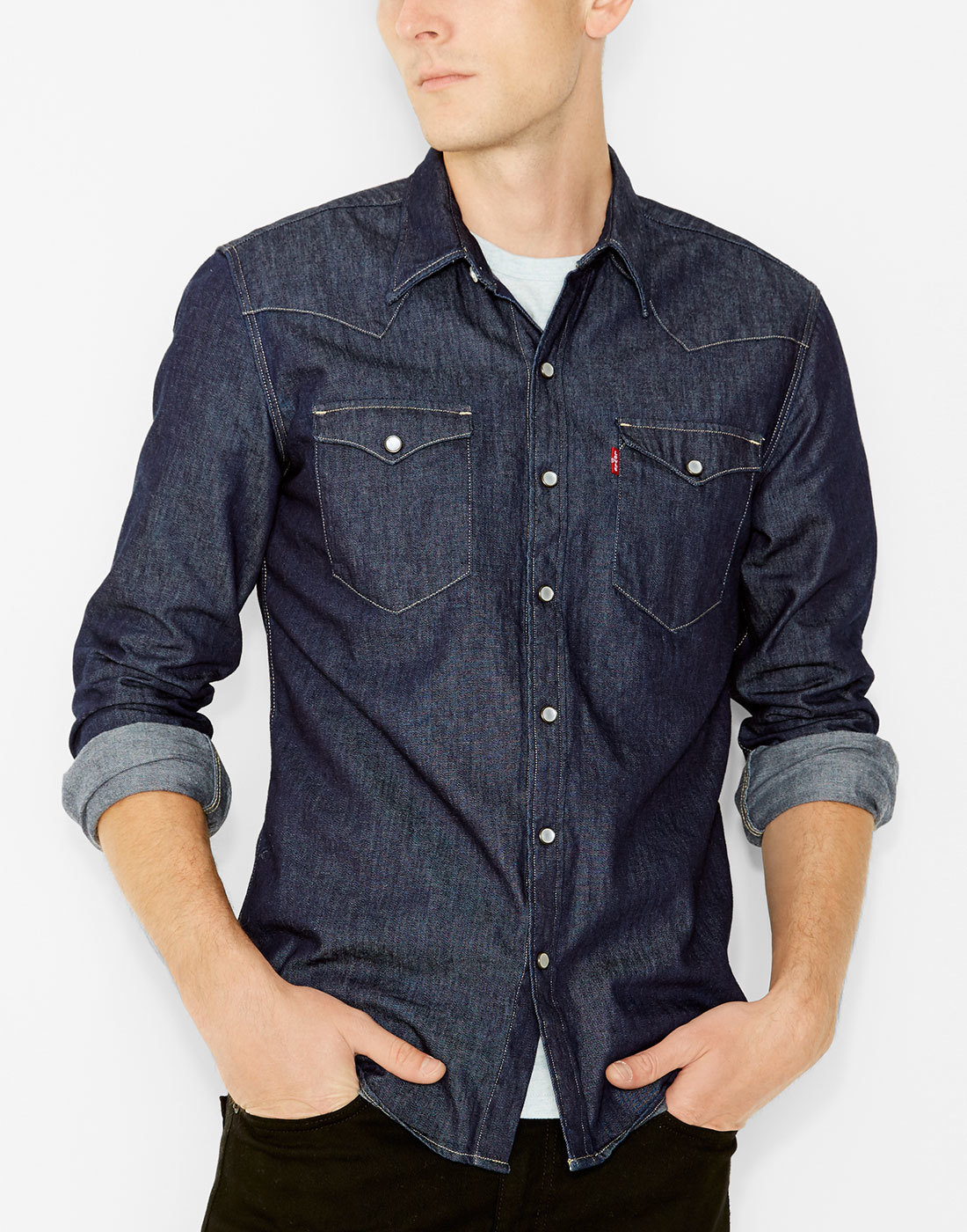 Red Cast Rinse Barstow Western Shirt Levi/'s