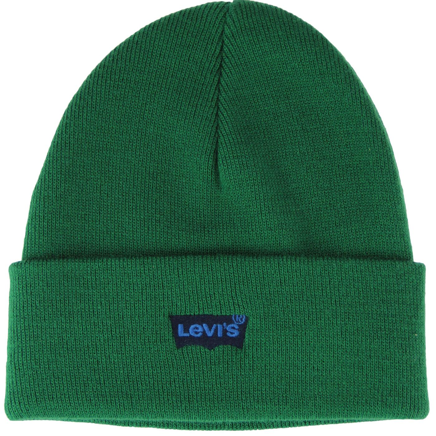LEVI'S Retro Batwing Embroidered Knit Beanie Hat G