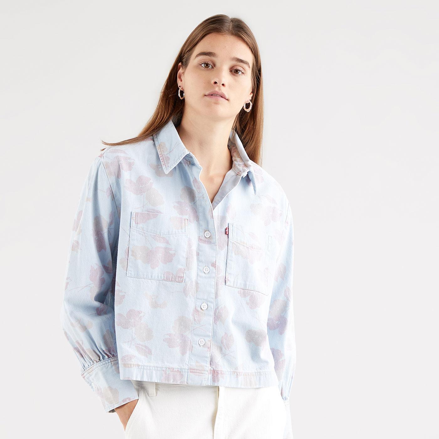 Zoey LEVIS WOMENS Retro Floral Utility Denim Shirt