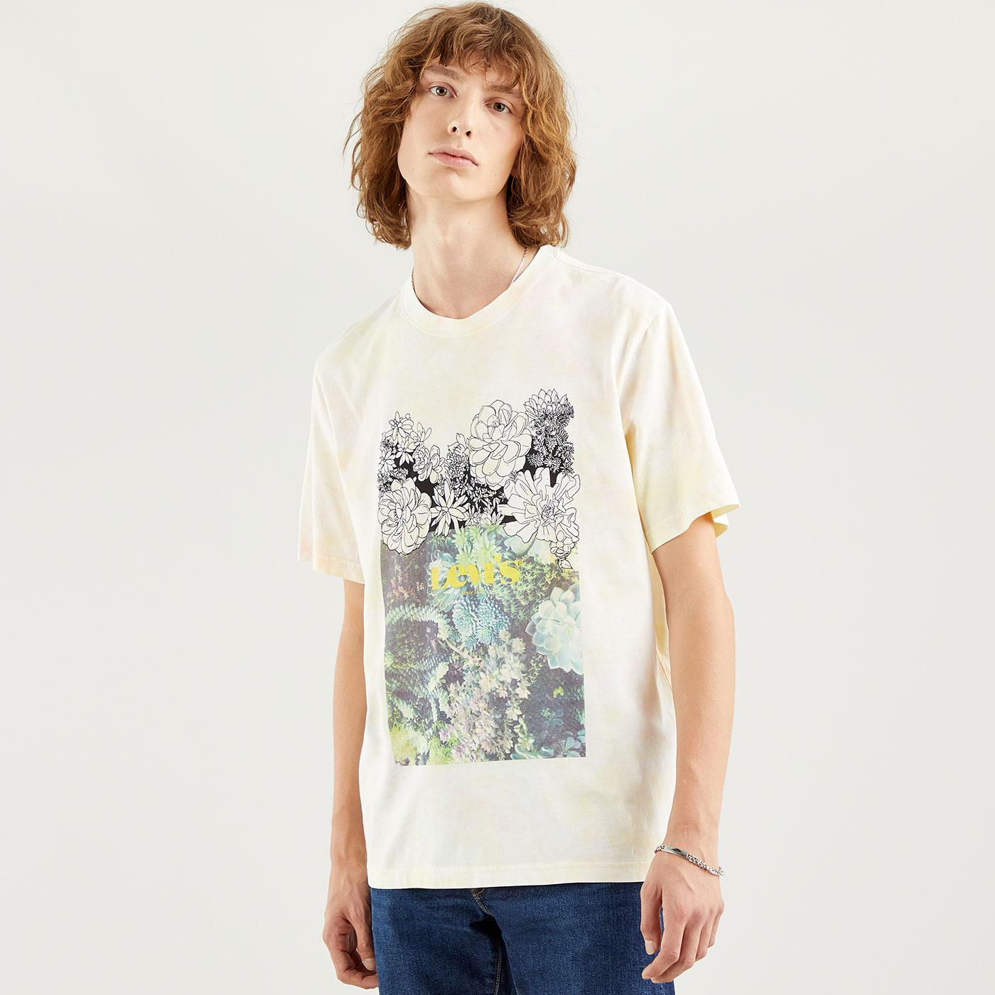 LEVI'S Relaxed Fit Retro Sketch Floral Tee (OW)