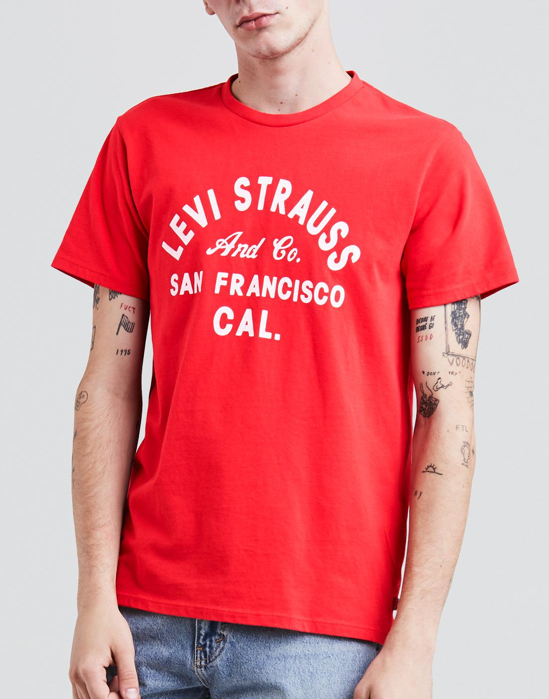 LEVI'S® Mens Retro Indie Levi Strauss & Co T-Shirt