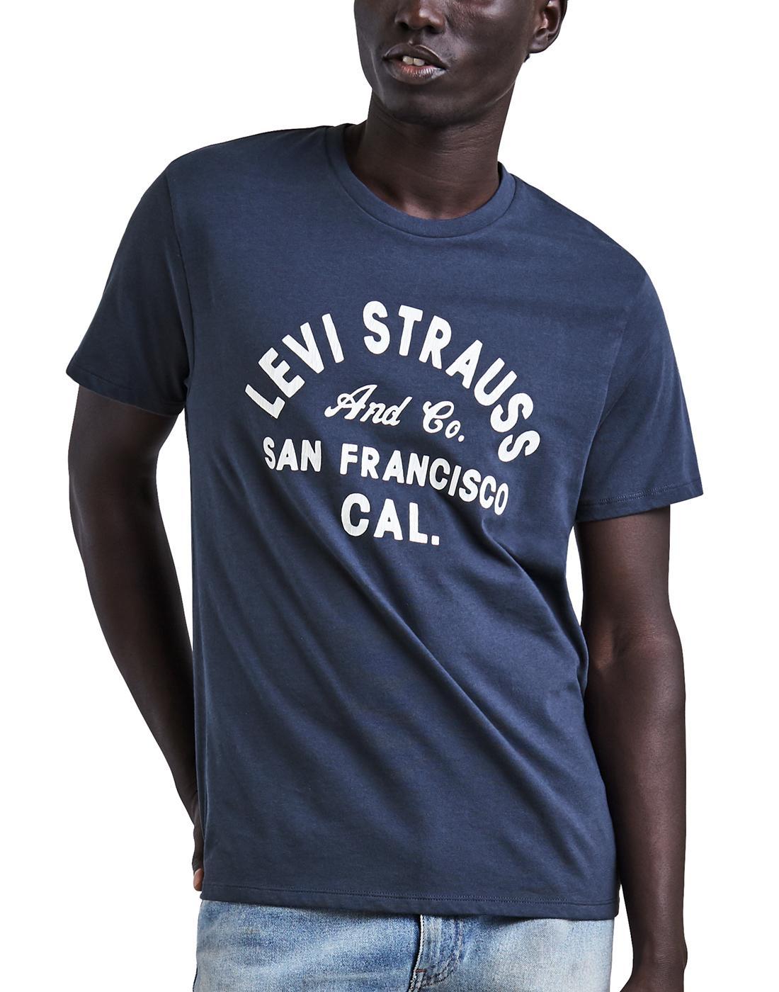 LEVI'S® Mens Retro Indie Levi Strauss T-Shirt Navy