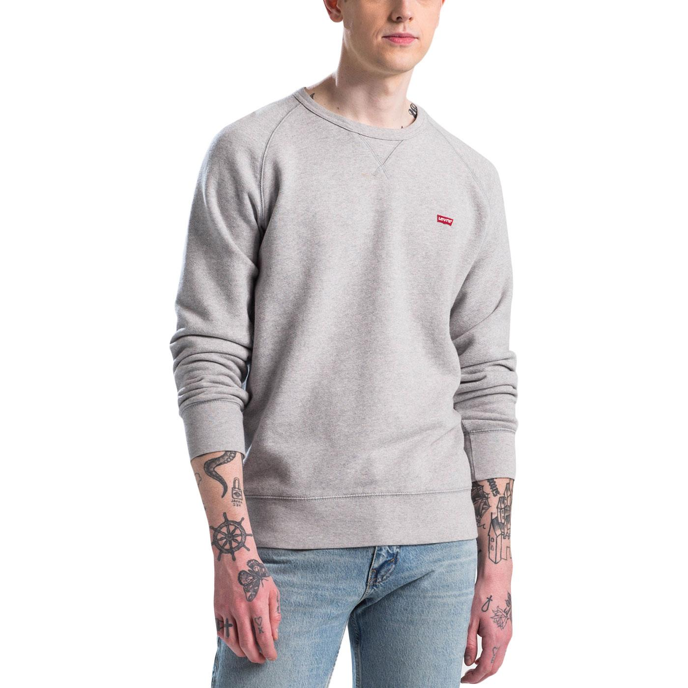 LEVI'S Men's Retro HM Icon Crew Sweatshirt (Grey)