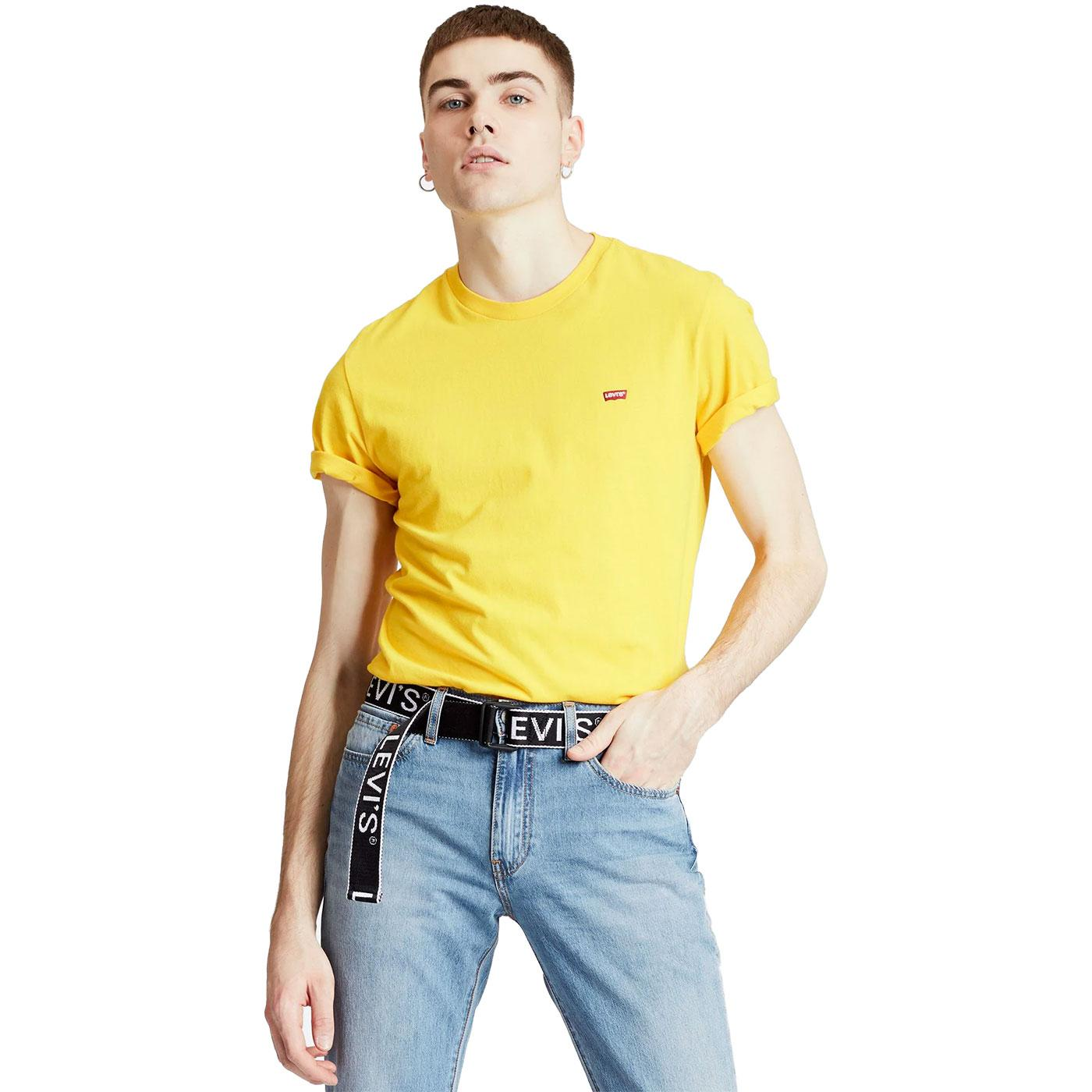 LEVI'S Original HM Small Logo Tee BRILLIANT YELLOW