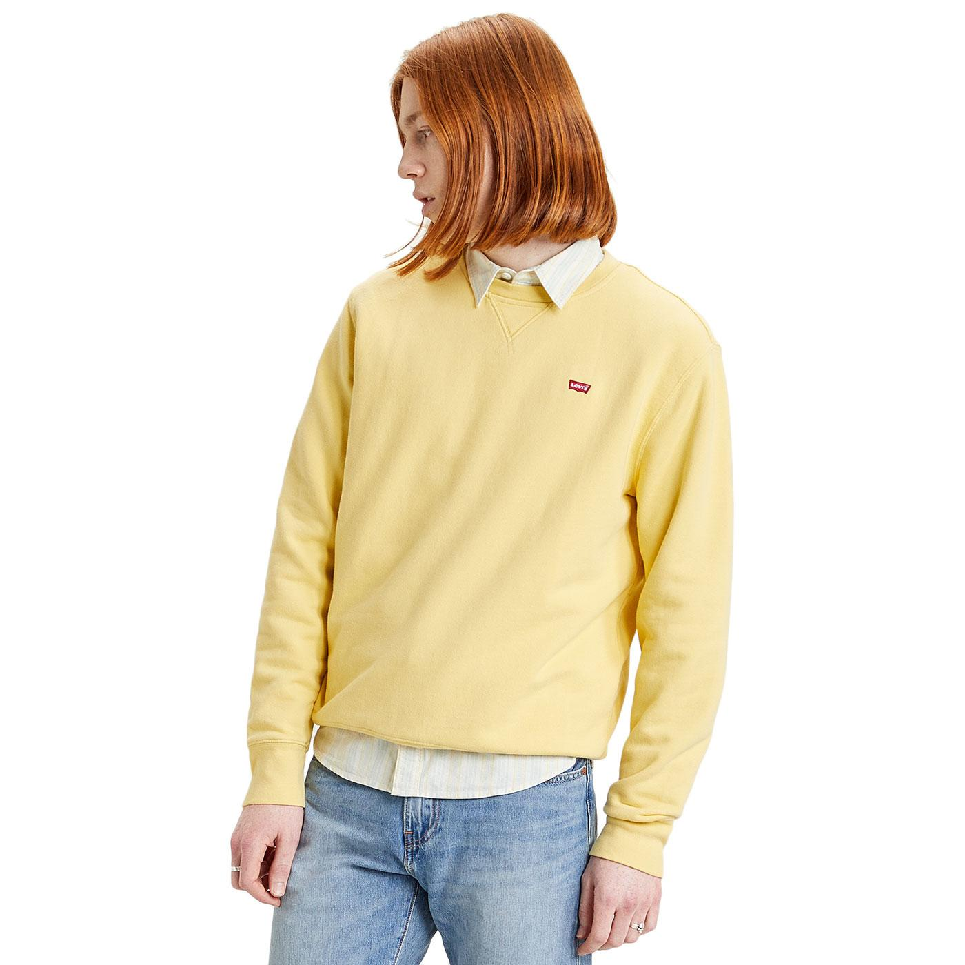 LEVI'S Men's HM Icon Crew Neck Sweatshirt (Citron)