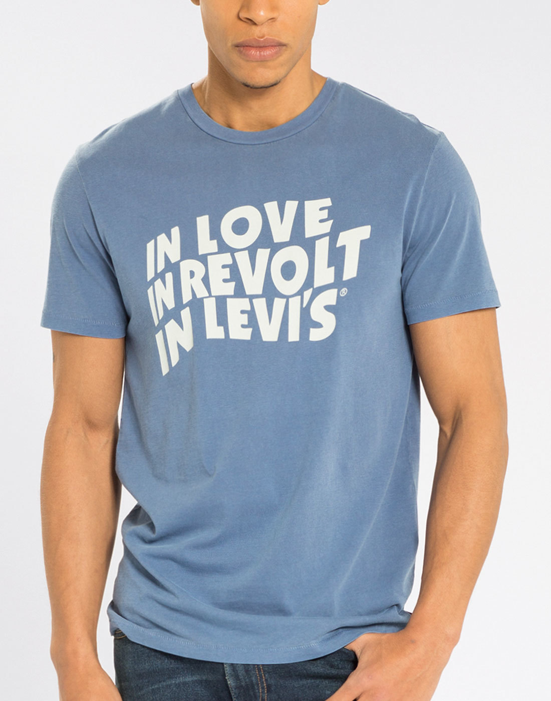 LEVI'S® In Love In Revolt In Levi's Retro Tee BLUE