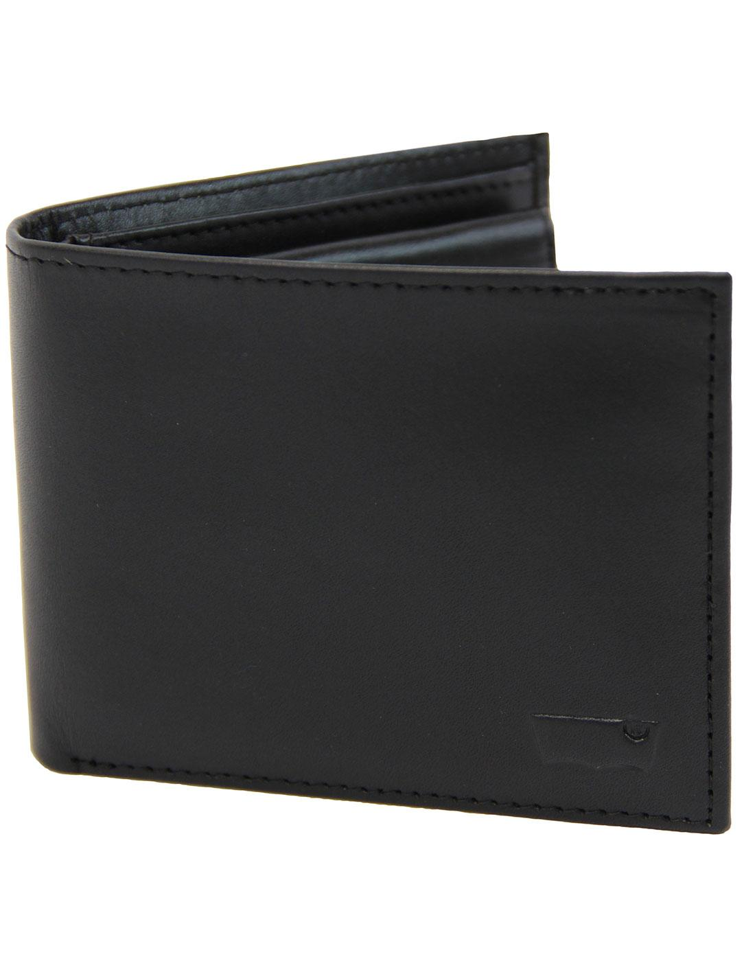 LEVI'S® Indie Leather Inlay Bifold Wallet Black