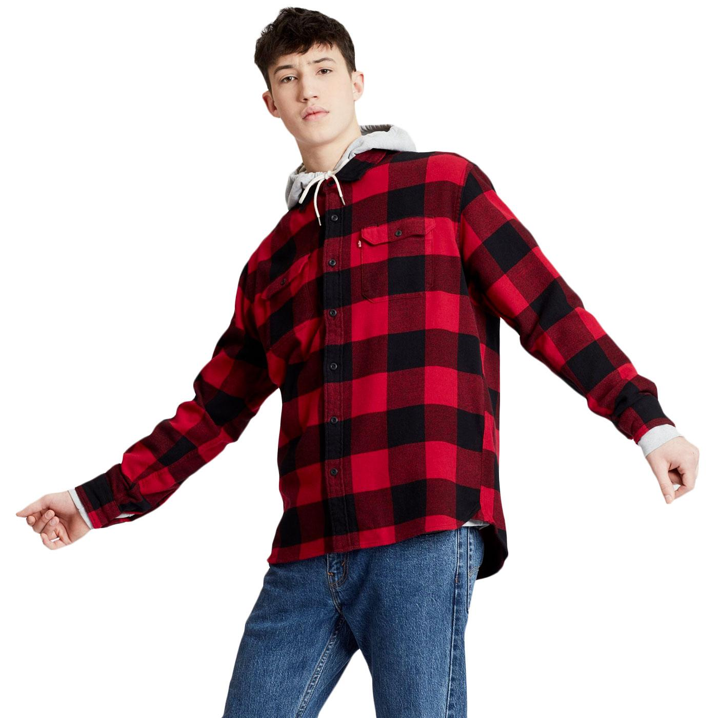 Jackson LEVI'S Retro Plaid Check Worker Shirt (C)