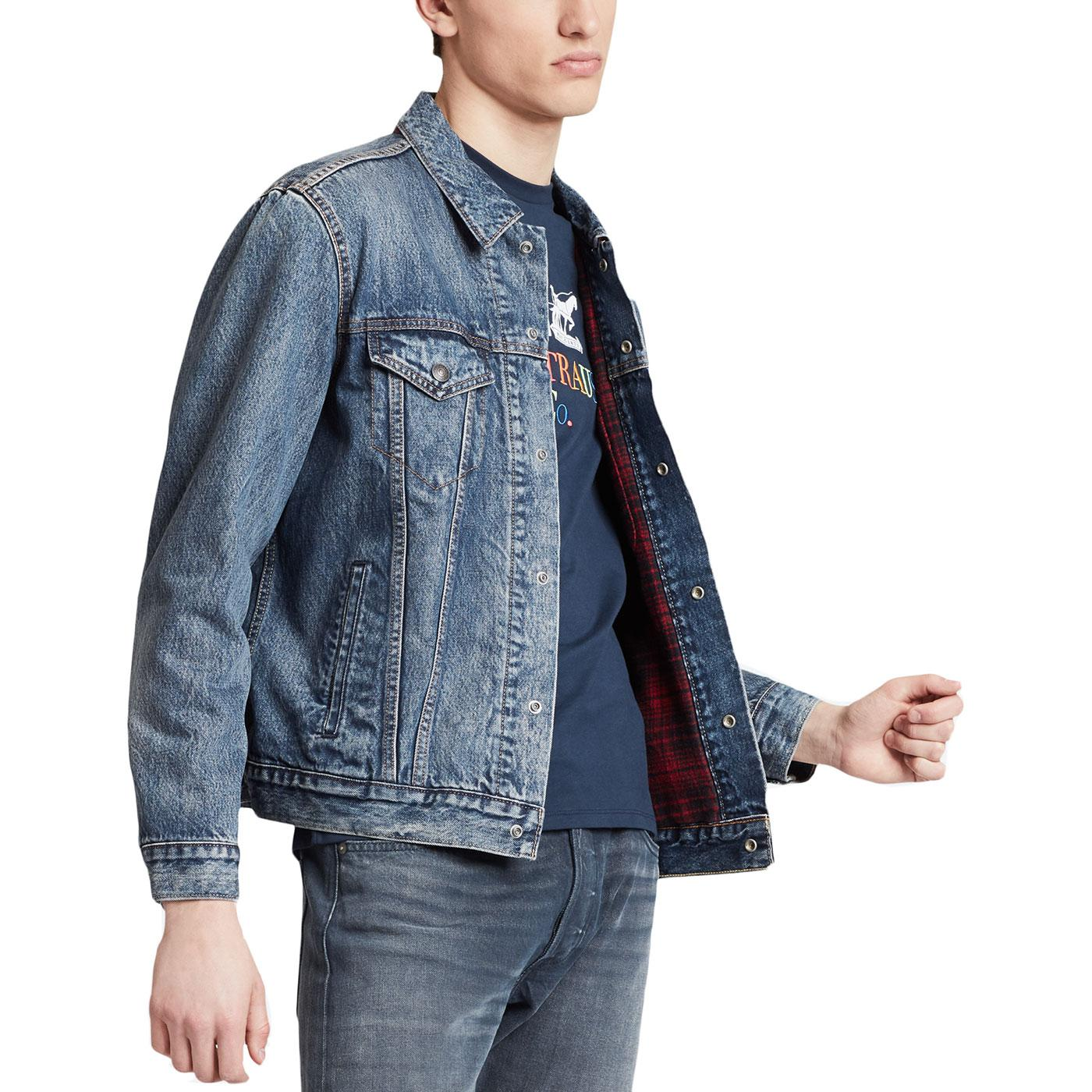 LEVI'S Retro 70s Lined Trucker Jacket in Sequoia